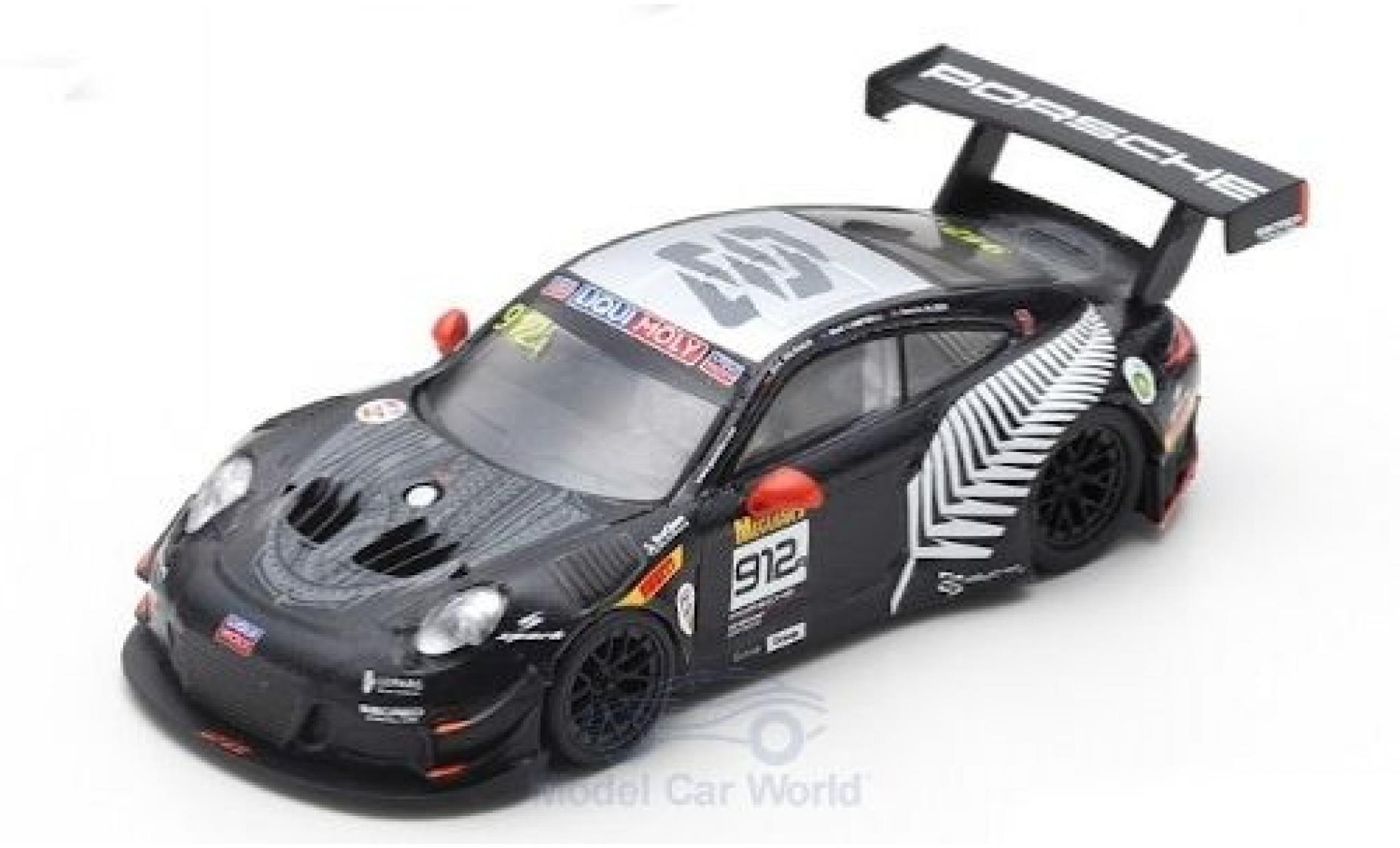 Porsche 992 GT3 R 1/64 Spark 911 (991) No.912 EBM 12h Bathurst 2019 D.Werner/D.Olsen/M.Campbell