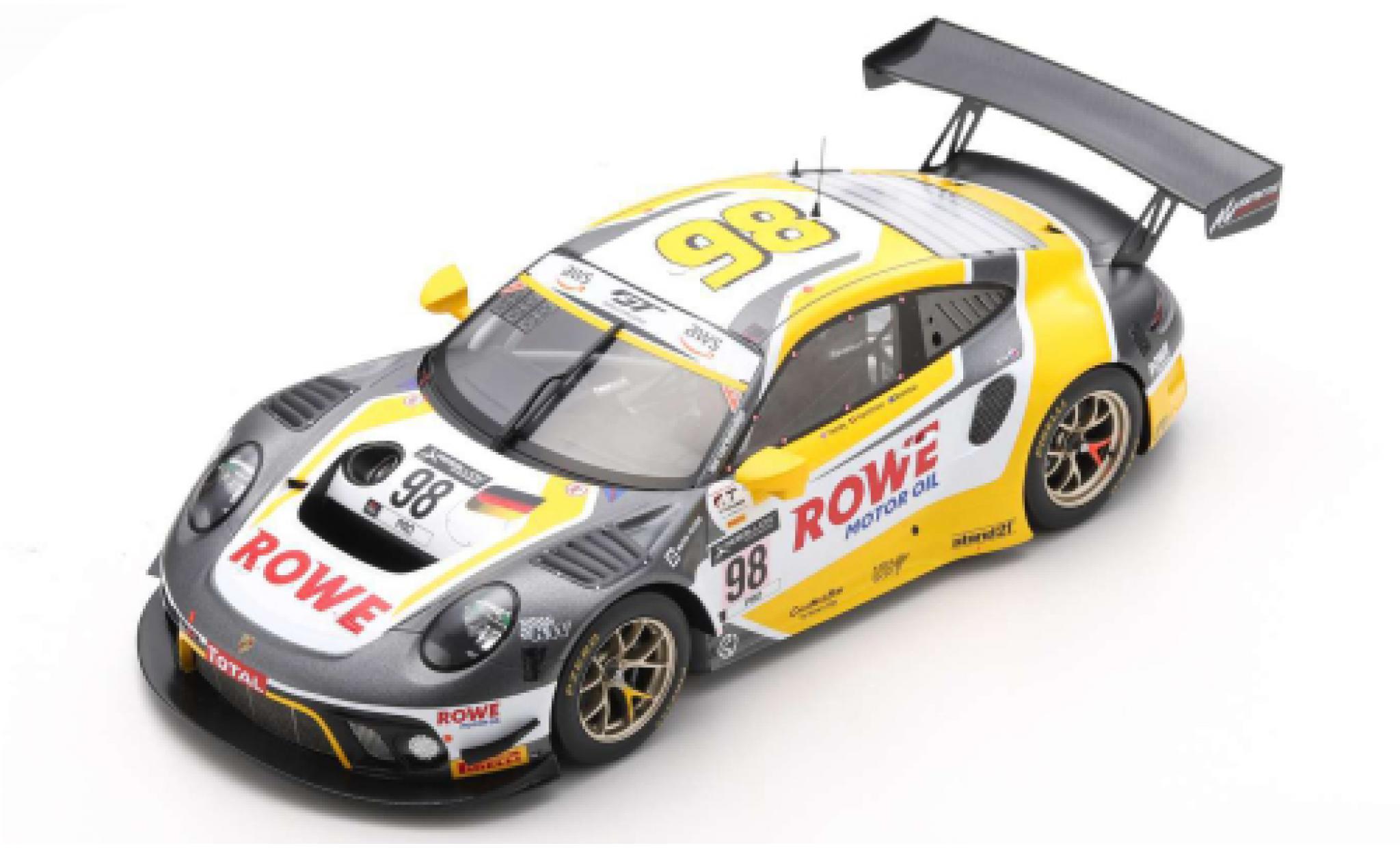 Porsche 992 GT3 R 1/18 Spark 911 (991) No.98 Rowe Racing 24h Spa 2020 L.Vanthoor/N.Tandy/E.Bamber