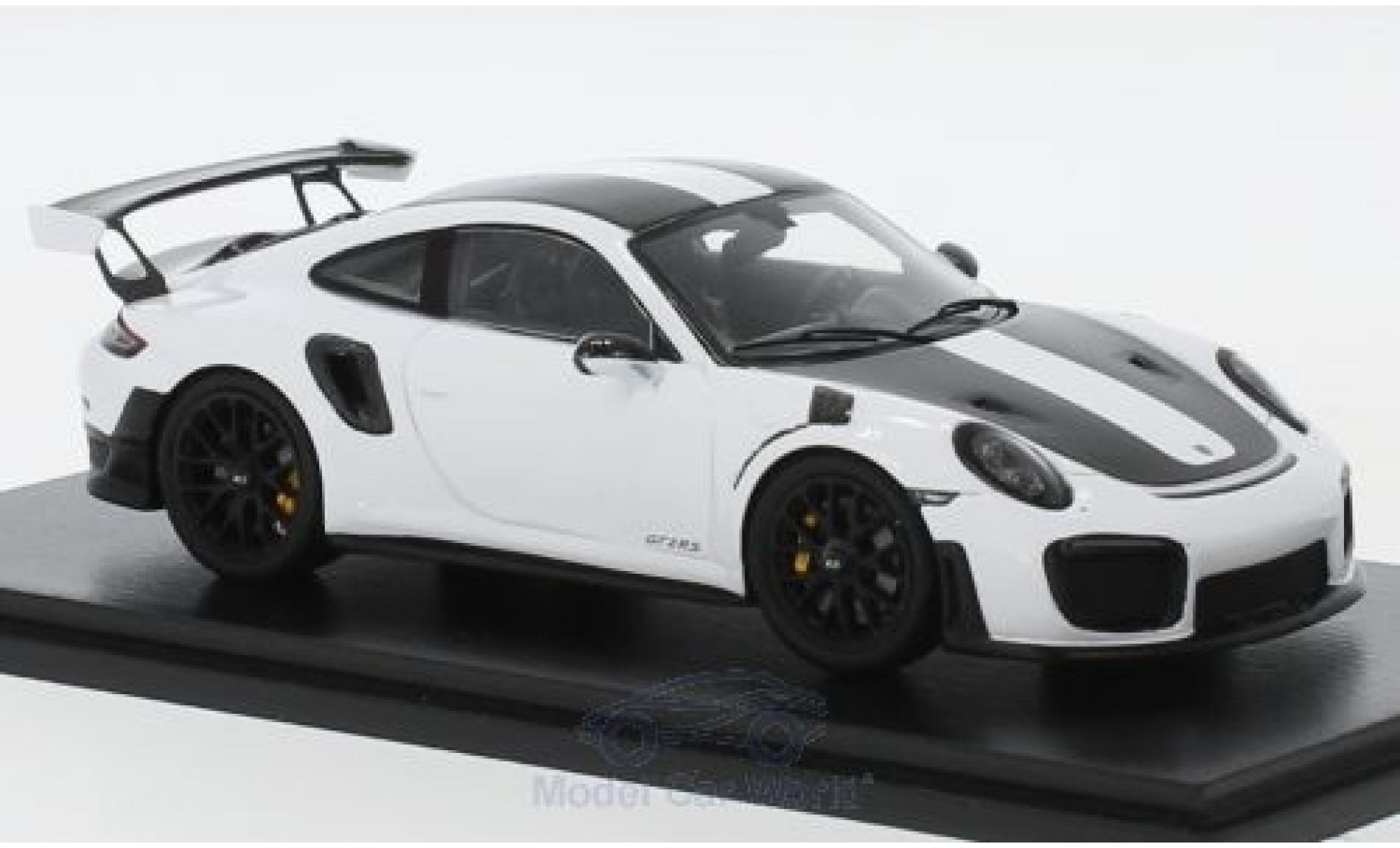 Porsche 911 1/43 Spark (991 II) GT2 RS blanche/noire 2018 Weissach Package