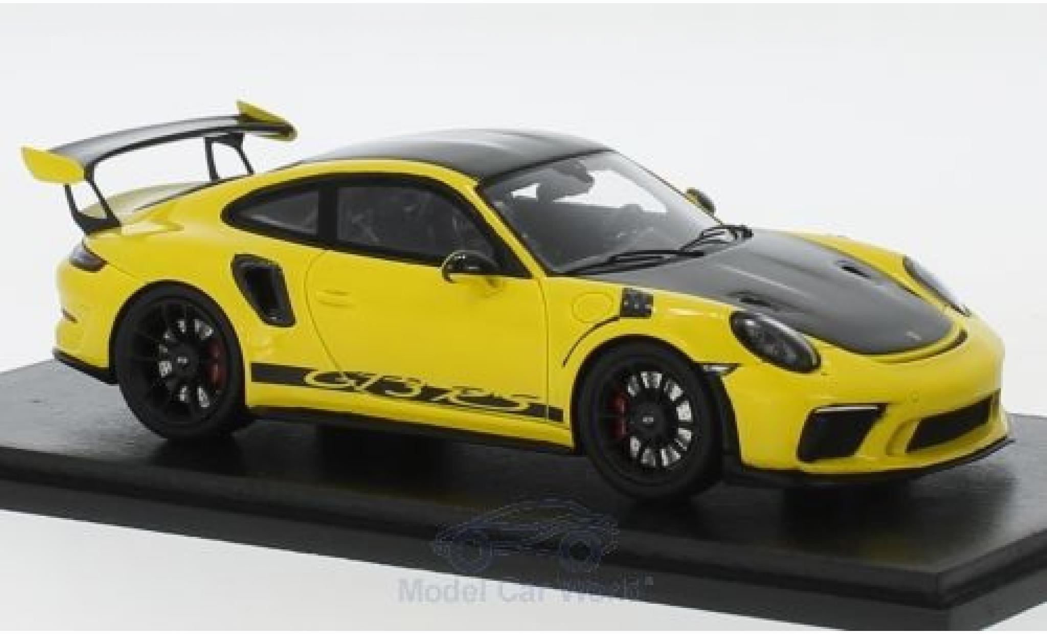Porsche 911 1/43 Spark (991 II) GT3 RS giallo/nero 2018 Weissach Package
