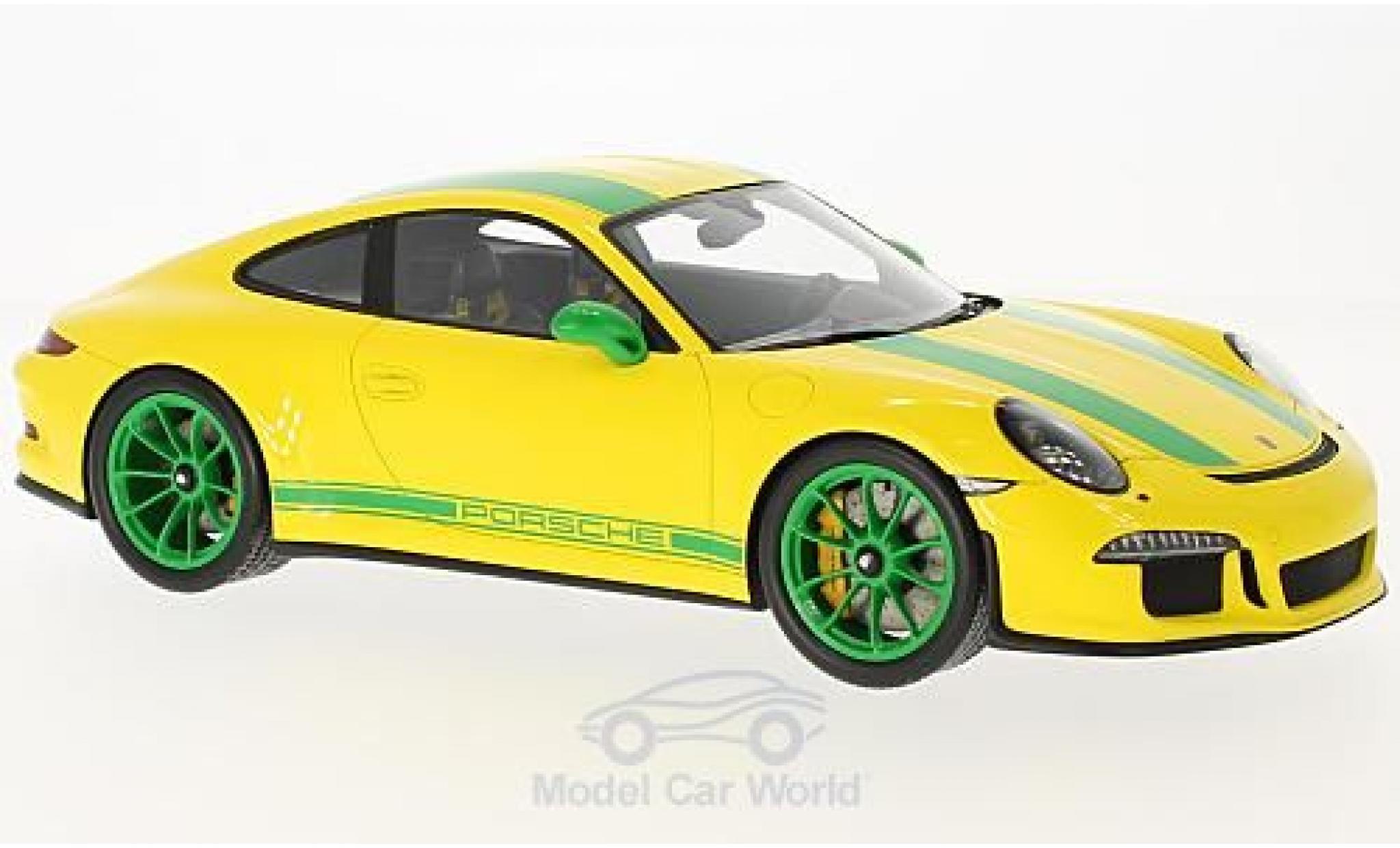Porsche 991 R 1/18 Spark 911  jaune/verte 2016