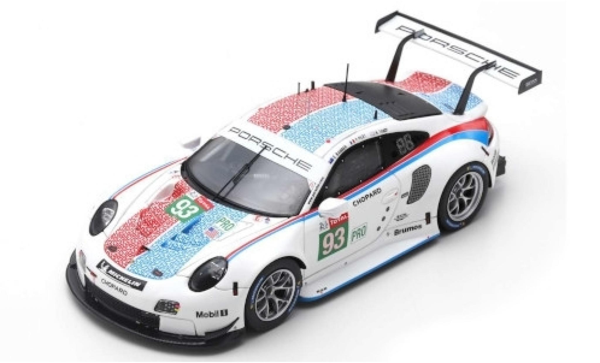 Porsche 992 RSR 1/87 Spark 911 (991) GTE No.93 GT Team LMGTE Pro 24h Le Mans 2019 P.Pilet/E.Bamber/N.Tandy