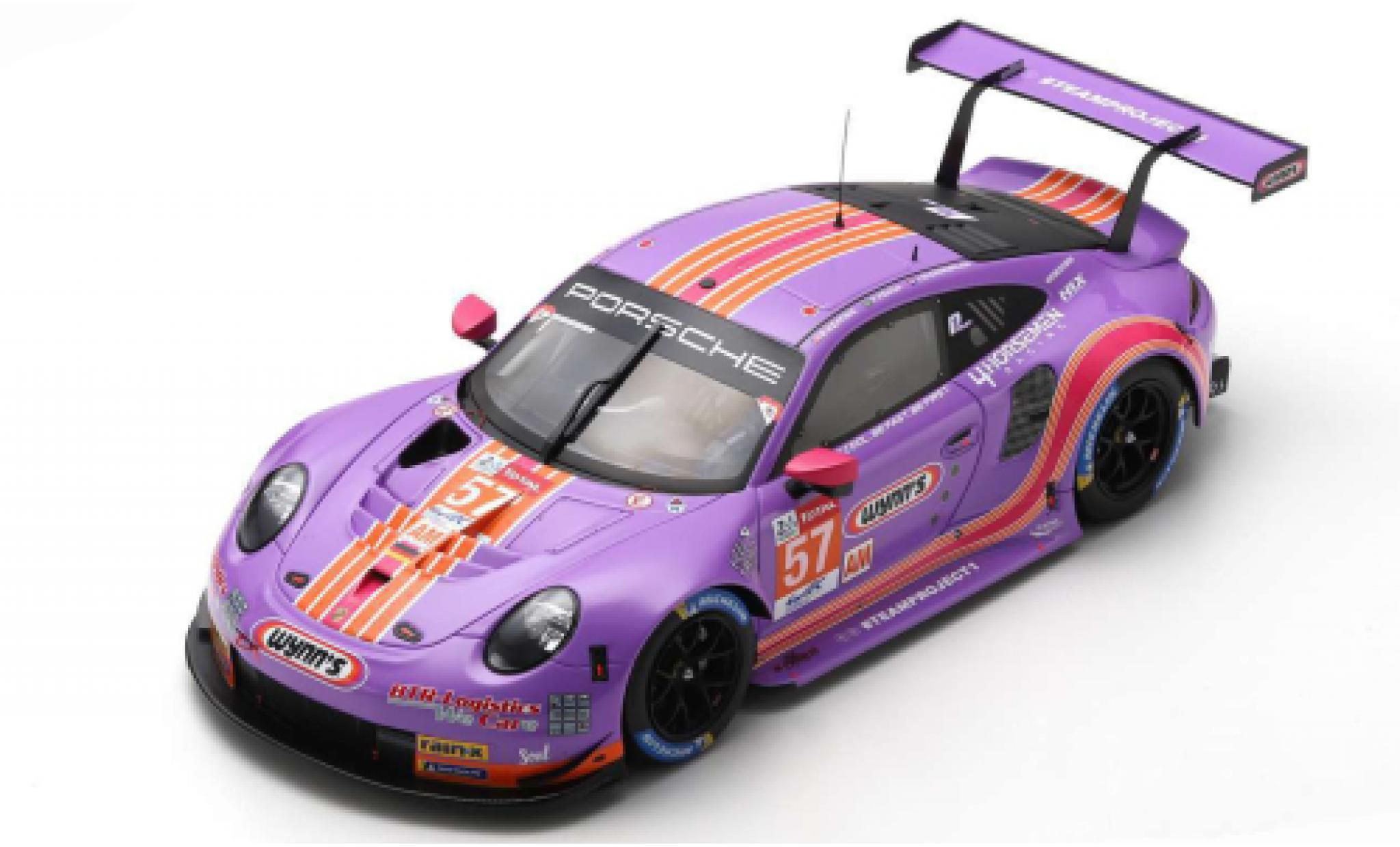 Porsche 992 RSR 1/18 Spark 911 (991) No.57 Team Project 1 Wynns 24h Le Mans 2020 J.Bleekemolen/F.Fraga/B.Keating