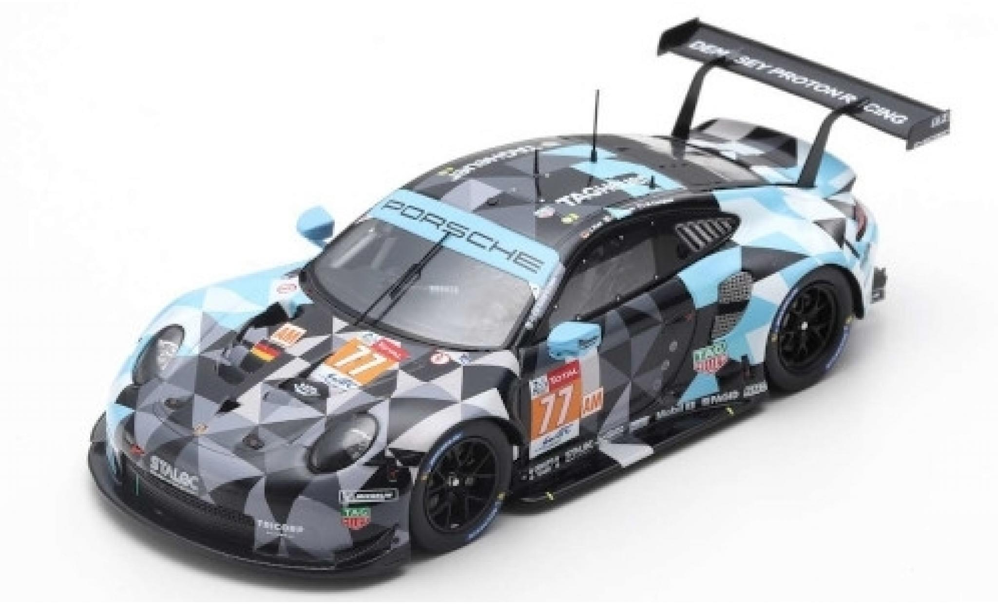 Porsche 911 1/43 Spark (991) RSR No.77 Dempsey-Prougeon Racing 24h Le Mans 2019 M.Campbell/C.Ried/J.Andlauer