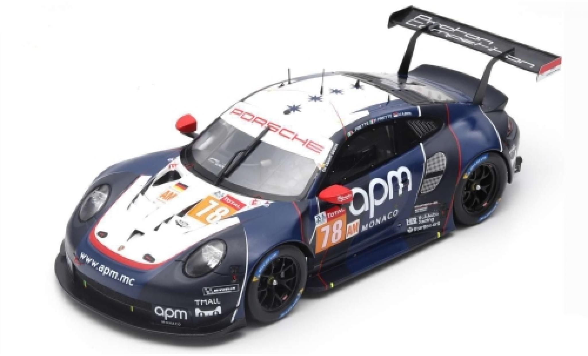 Porsche 992 RSR 1/43 Spark 911 (991) No.78 Predon Competition 24h Le Mans 2019 L.Prette/P.Prette/V.Abril