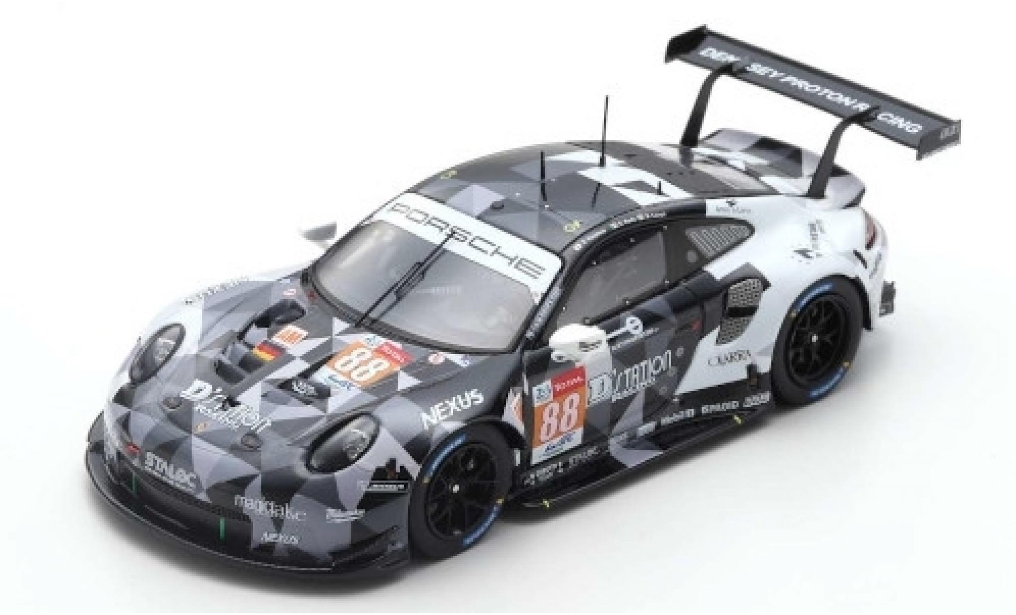 Porsche 992 RSR 1/43 Spark 911 (991) No.88 Dempsey-Predon Racing 24h Le Mans 2019 S.Hoshino/G.Roda/M.Cairoli