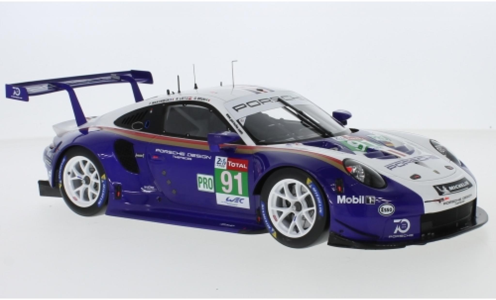 Porsche 911 1/12 Spark (991) RSR No.91 GT Team 24h Le Mans 2018 R.Lietz/G.Bruni/F.Makowiecki