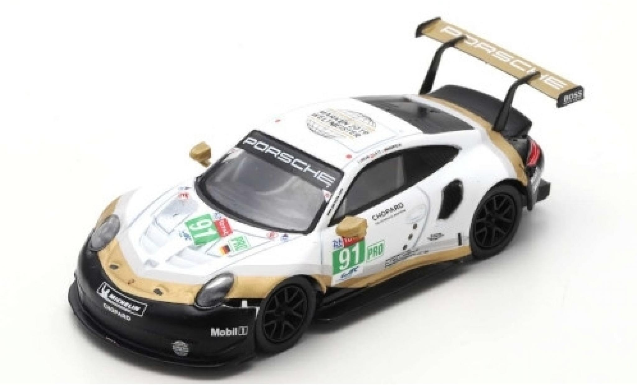 Porsche 992 RSR 1/64 Spark 911 (991) No.91 GT Team 24h Le Mans 2019 R.Lietz/G.Bruni/F.Makowiecki