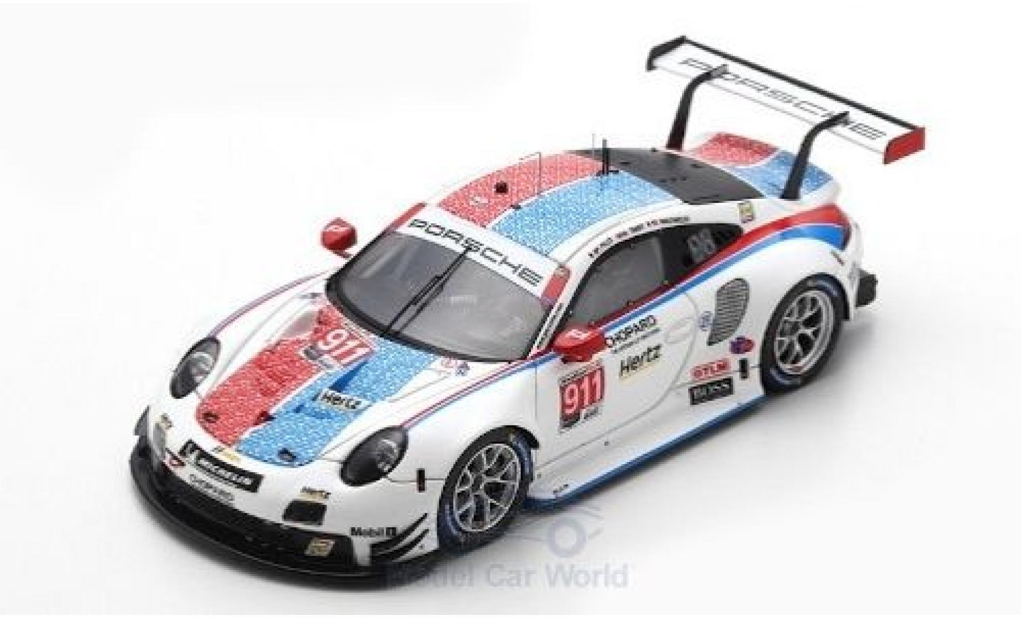 Porsche 992 RSR 1/43 Spark 911 (991) No.911 GT Team 12h Sebring 2019 P.Pilet/N.Tandy/F.Makowiecki