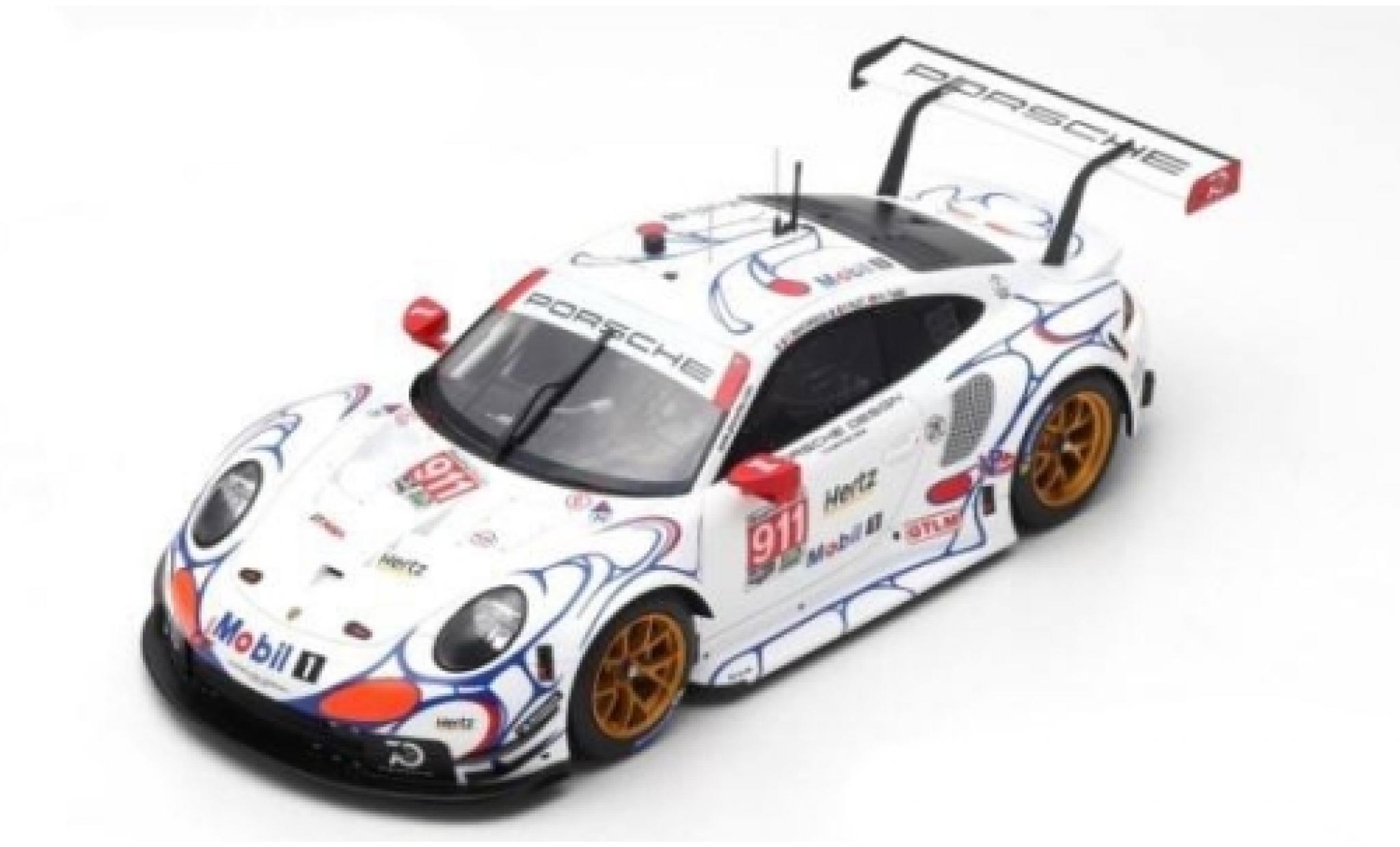 Porsche 991 RSR 1/64 Spark 911  No.911 GT Team Petit Le Mans 2018 P.Pilet/N.Tandy/F.Makowiecki