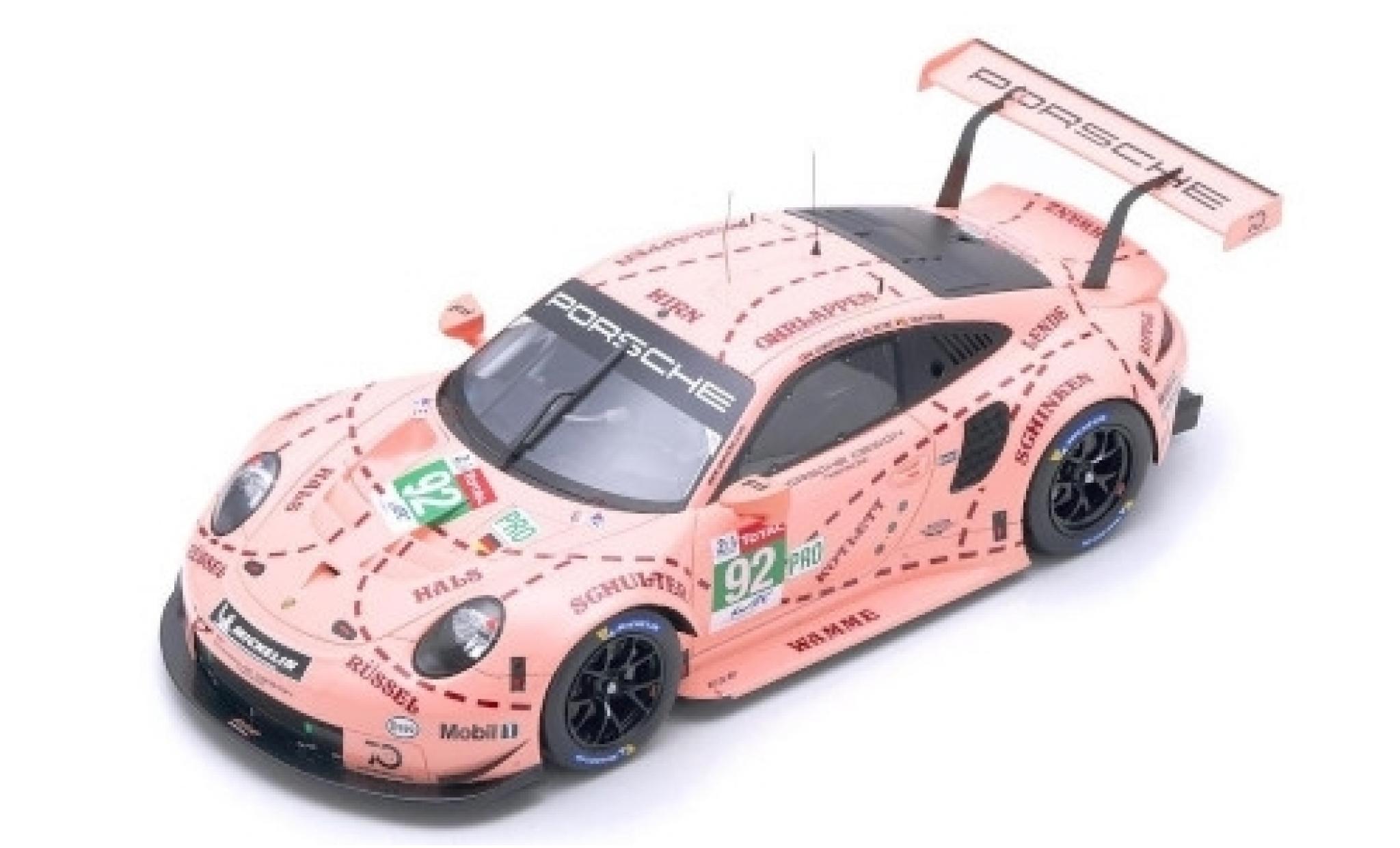 Porsche 911 1/12 Spark (991) RSR No.92 GT Team 24h Le Mans 2018 M.Christensen/K.Estre/J.Vanthoor