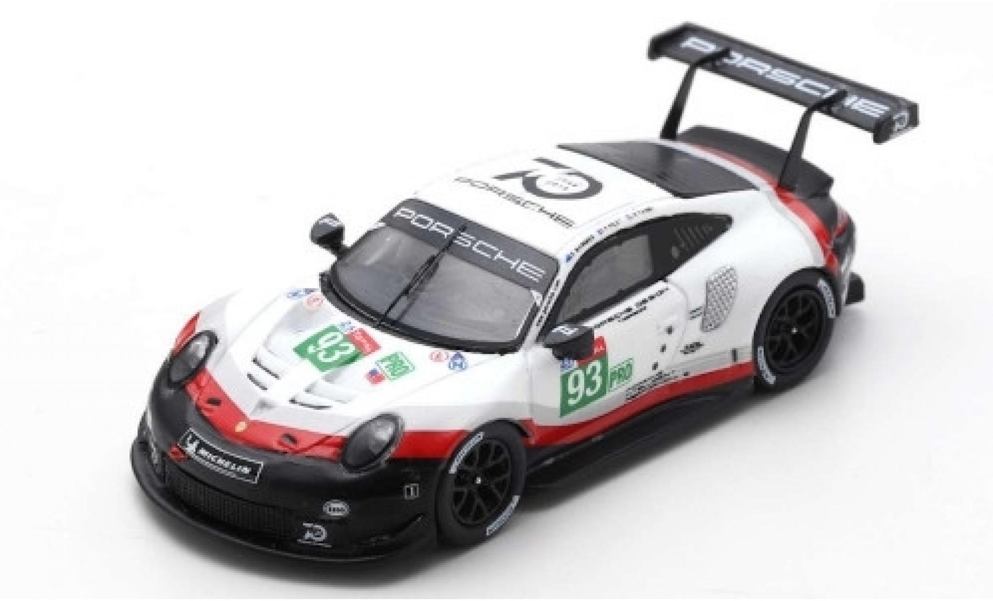 Porsche 911 1/12 Spark (991) RSR No.93 GT Team 24h Le Mans 2018 P.Pilet/N.Tandy/E.Bamber