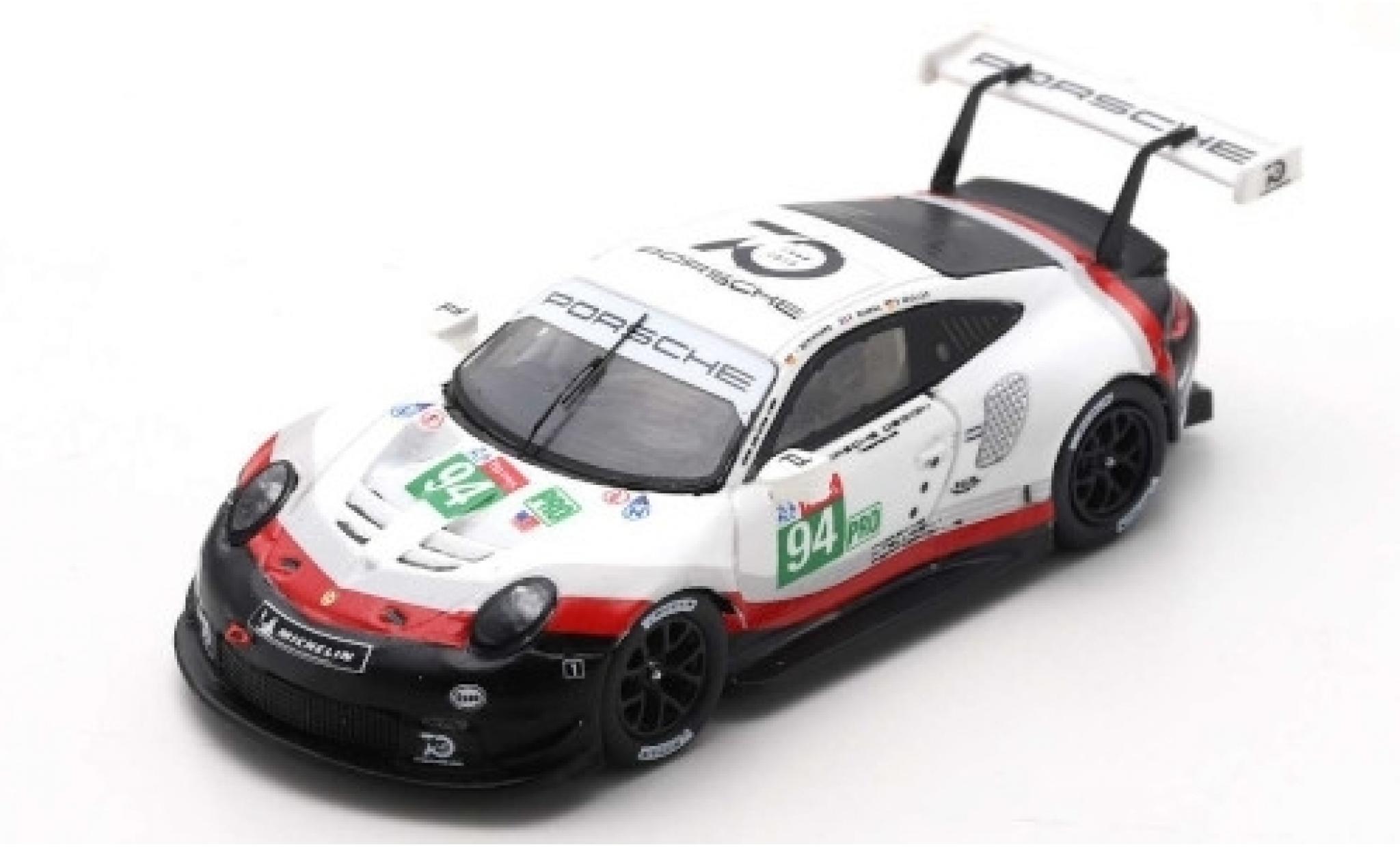 Porsche 991 RSR 1/64 Spark 911  No.94 GT Team 24h Le Mans 2018 R.Dumas/T.Bernhard/S.Müller