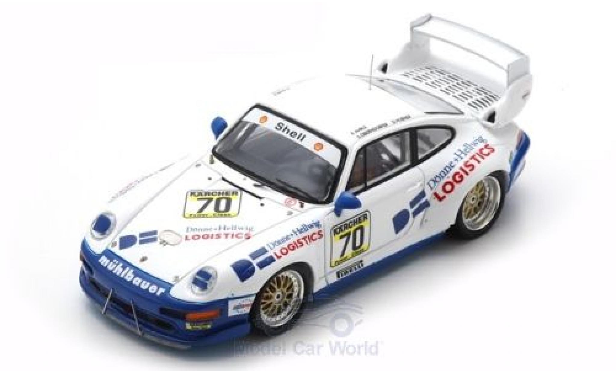 Porsche 993 GT2 1/43 Spark 911  No.70 1000km Paris 1995 S.Oberndorfer/D.Hübner