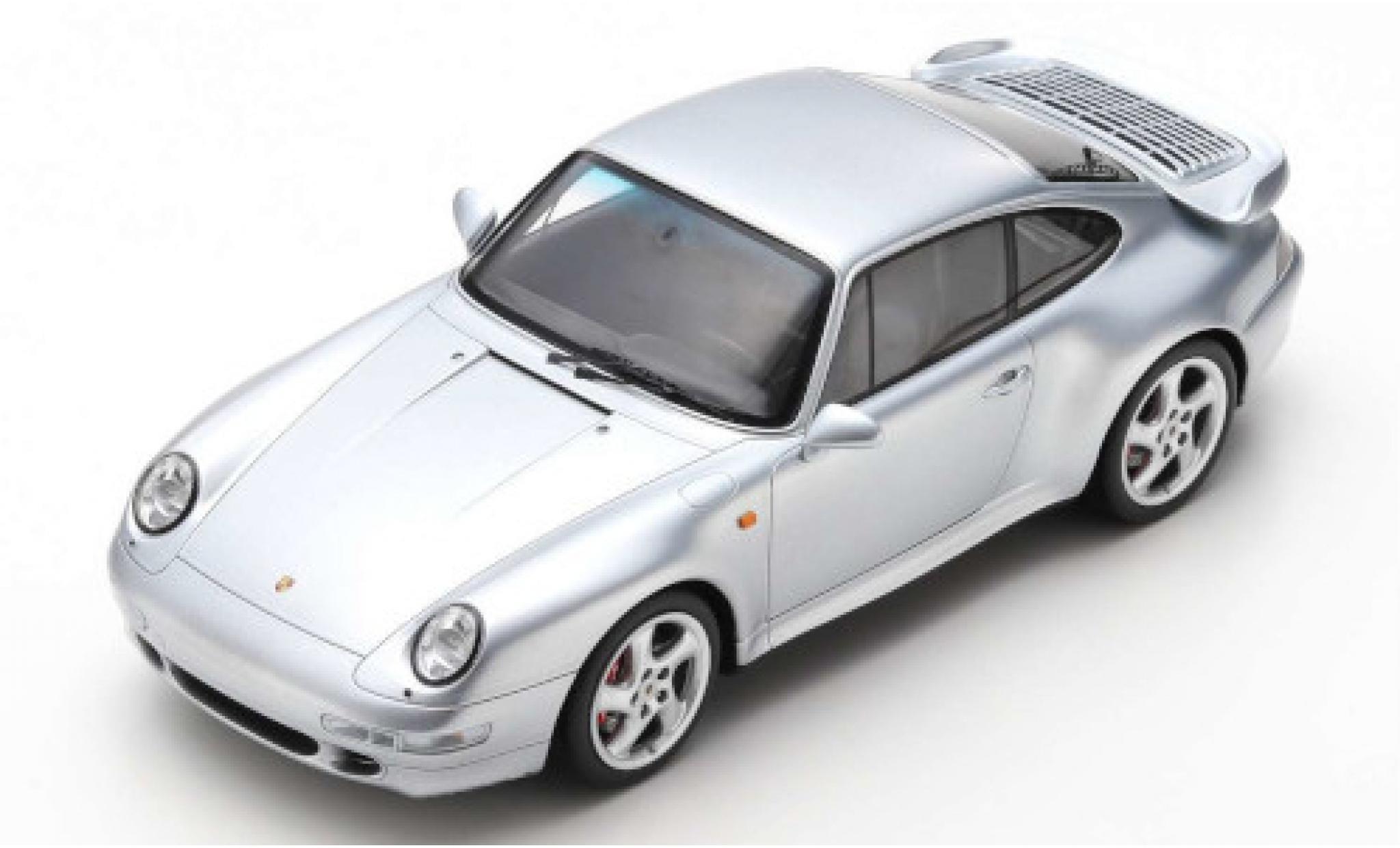 Porsche 993 Turbo 1/18 Spark 911  silber 1997