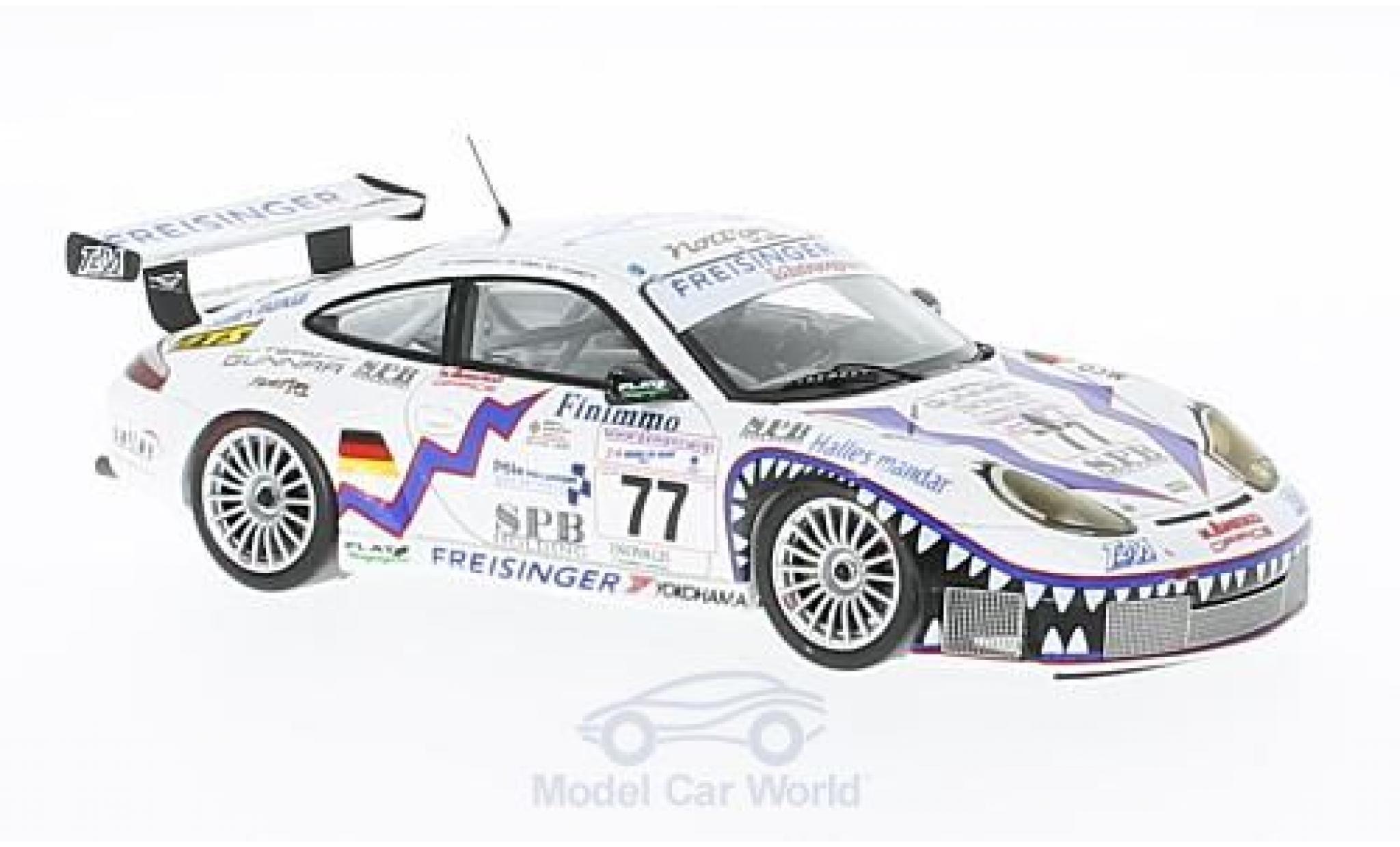 Porsche 996 GT3 RS 1/43 Spark 911  No.77 Freisinger Motorsport 24h Le Mans 2001 R.Dumas/G.Jeannette/P.Haezebrouck
