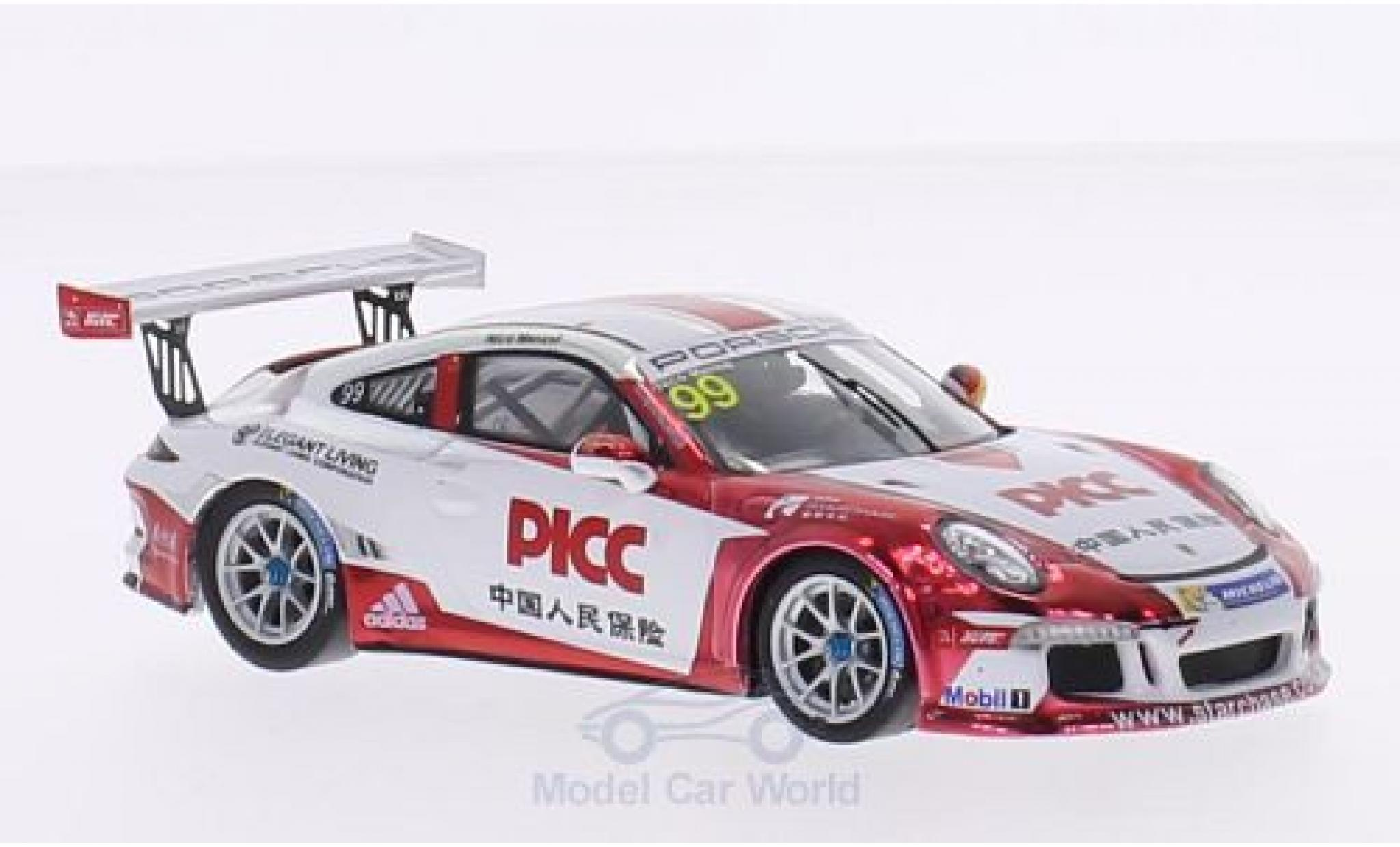 Porsche 991 GT3 Cup 1/43 Spark 911 (997) No.99 Team Starchase PICC Carrera Cup Asia 2015 N.Menzel