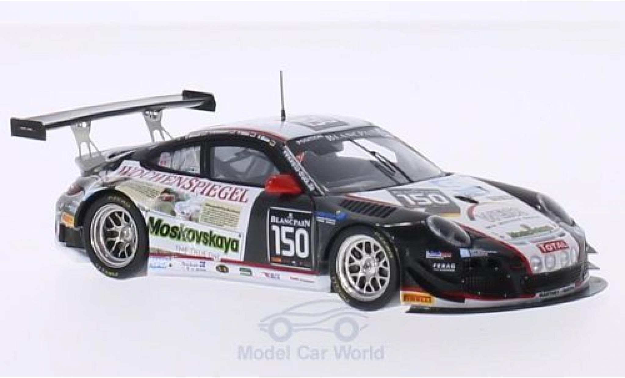 Porsche 991 GT3 R 1/43 Spark 911 (997) No.150 24h Spa 2014 G.Weiss/O.Kainz/J.Krumbach/C.Menzel