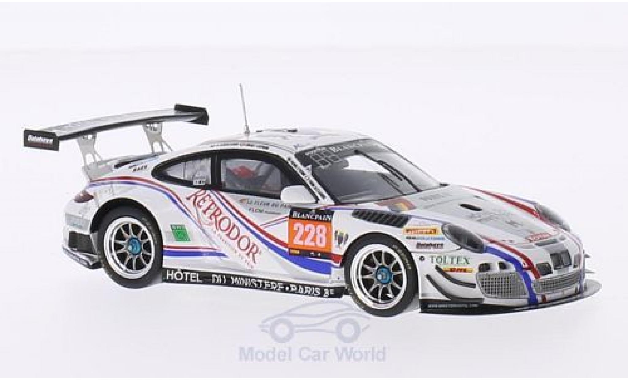Porsche 991 GT3 R 1/43 Spark 911 (997) No.228 Delhaye Racing 24h Spa 2014 P.-E.Bordet/A.Viron/S.Lemeret/K.Al Azhari