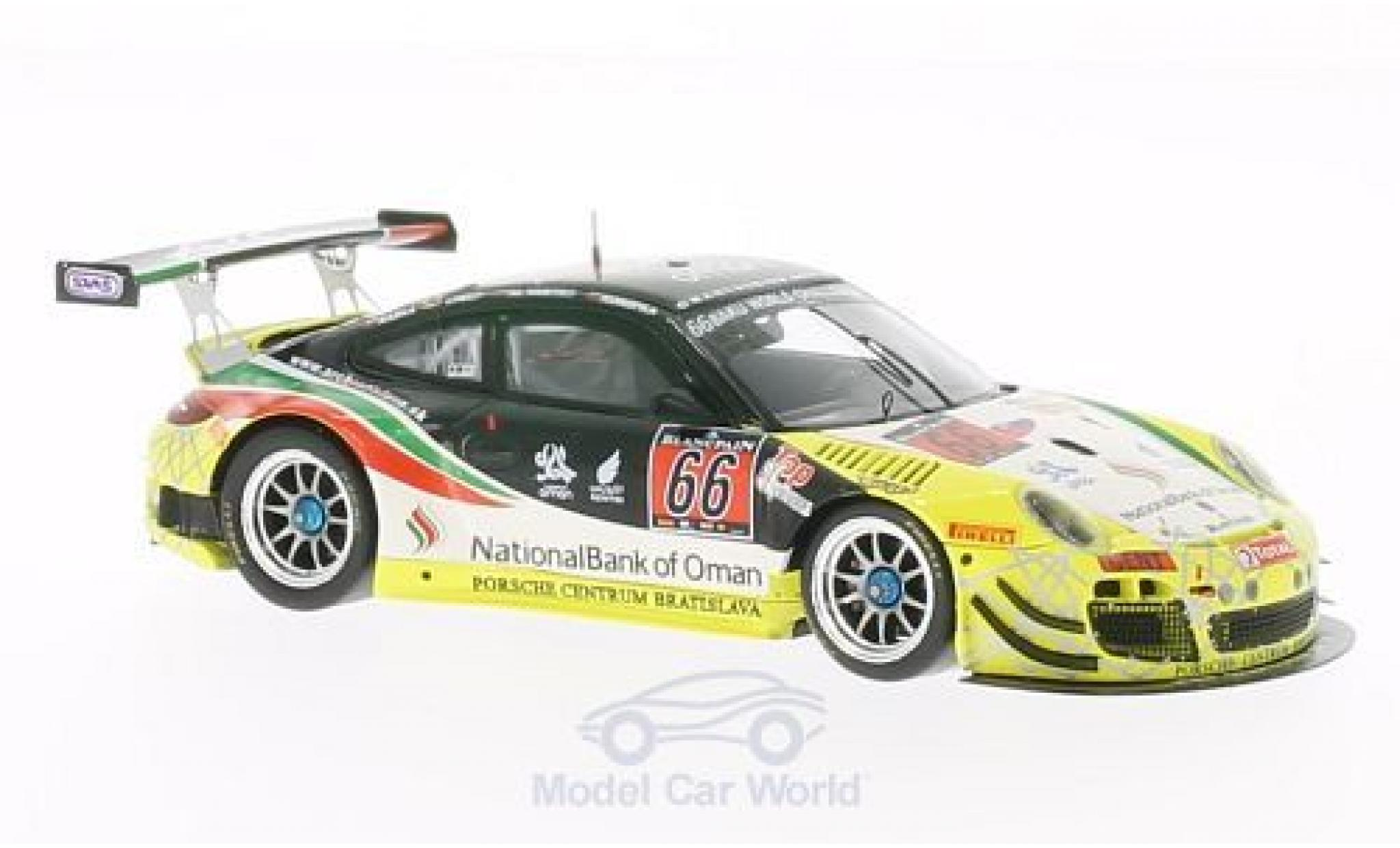 Porsche 991 GT3 R 1/43 Spark 911 (997) No.66 National Bank of Oman 24h Spa 2013 A.Al Harty/M.Konopka/J.Raska/M.Schelp