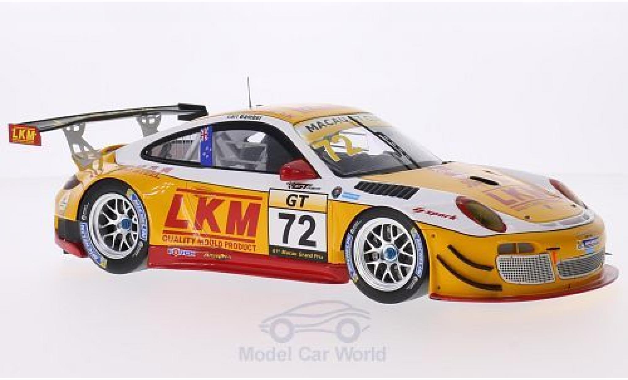 Porsche 991 GT3 R 1/18 Spark 911 (997) No.72 LKM GT Asia Macau GT Cup 2014 E.Bamber