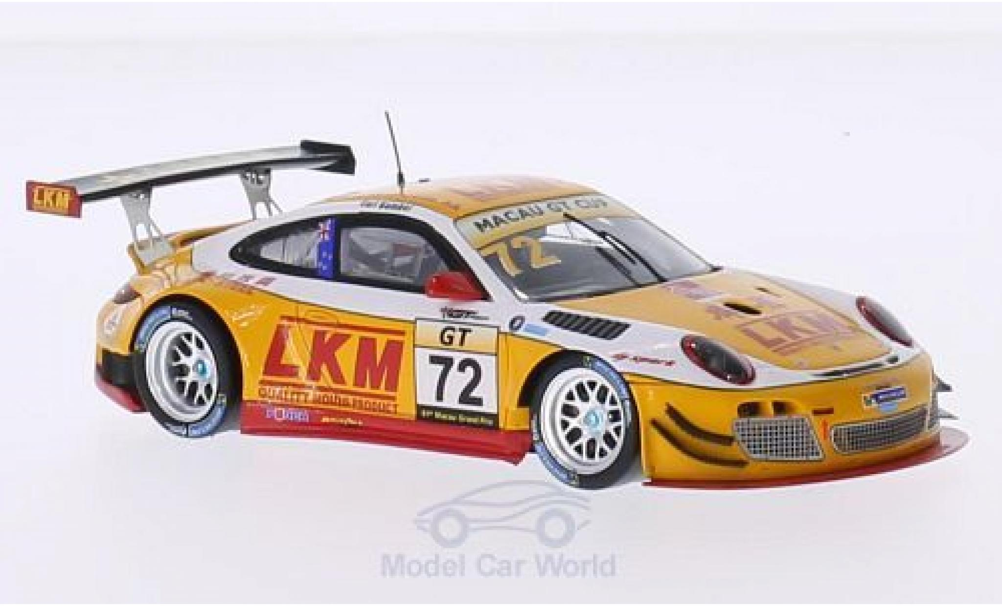 Porsche 997 SC 1/43 Spark (997) GT3 R No.72 LKM GT Cup GP Macau 2014 E.Bamber