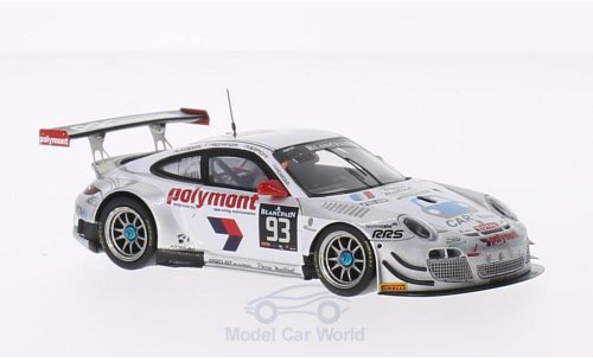 Porsche 991 GT3 R 1/43 Spark 911 (997) No.93 Pro GT by Almeras 24h Spa 2014 L.Lasserre/E.Dermont/F.Perera/M.Bonanomi