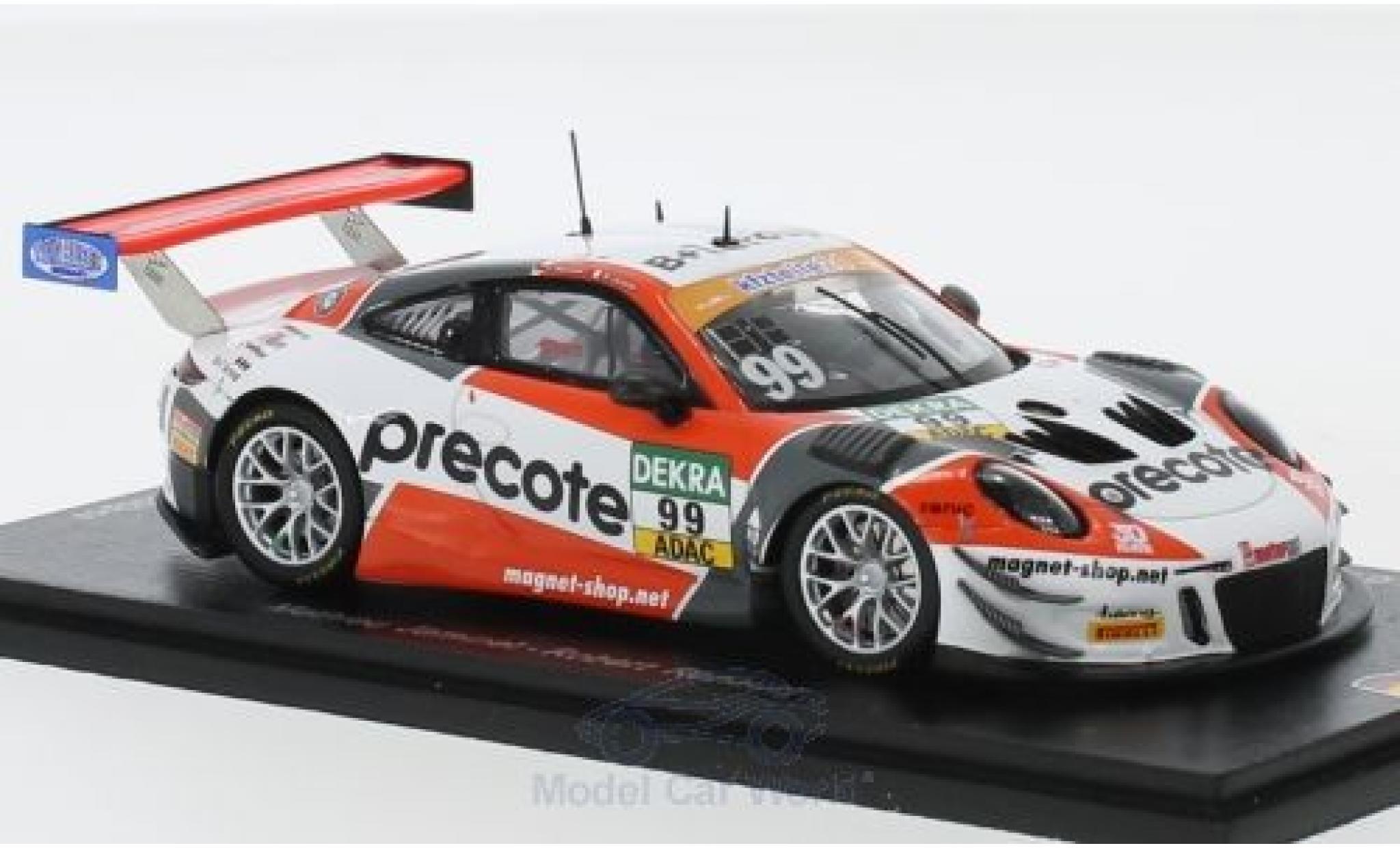 Porsche 991 GT3 R 1/43 Spark 911 (997) No.99 Precote Herberth Motorsport ADAC GT Masters 2018 M.Jaminet/R.Renauer