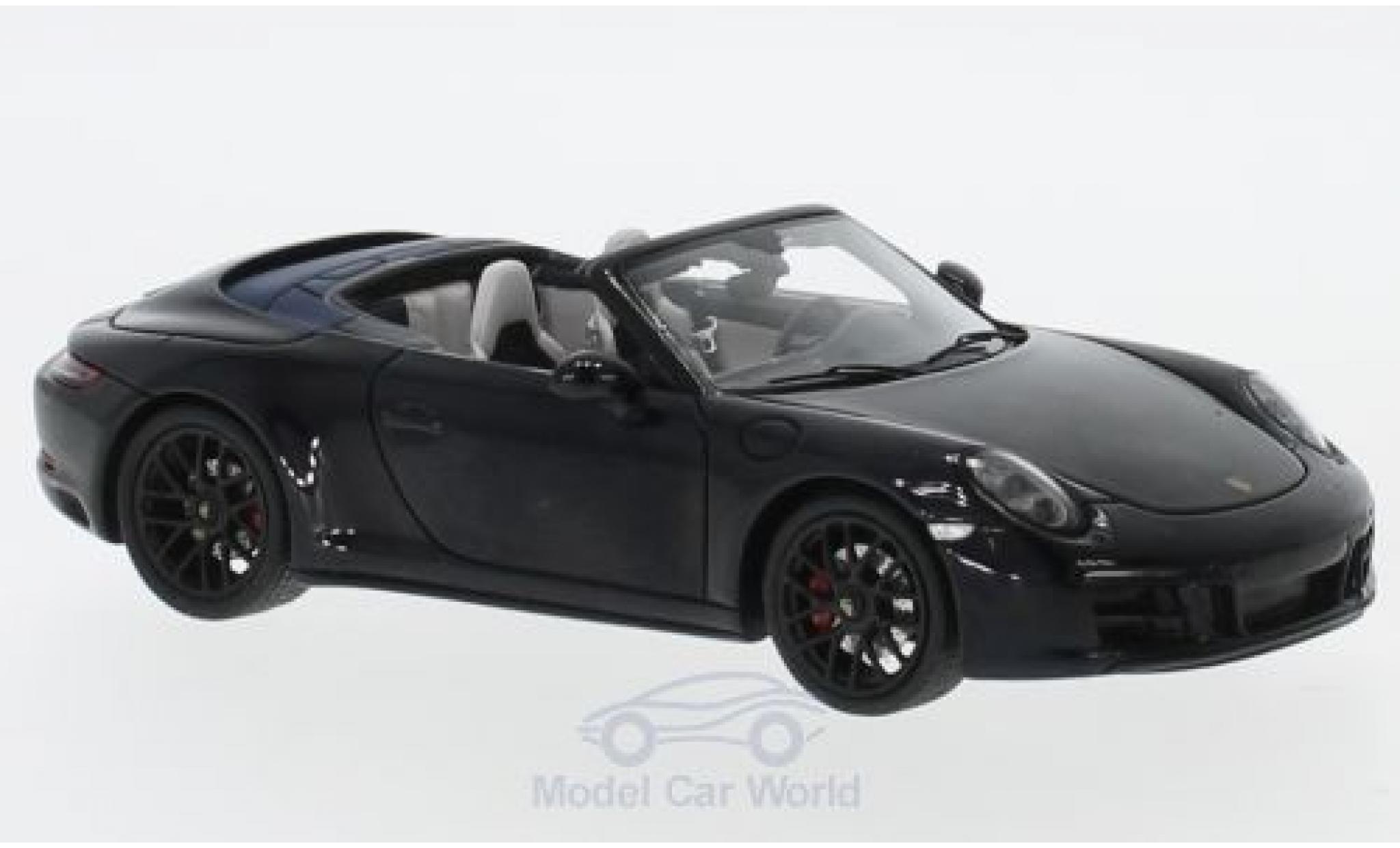Porsche 991 GTS 1/43 Spark 911 Carrera Cabriolet black 2017