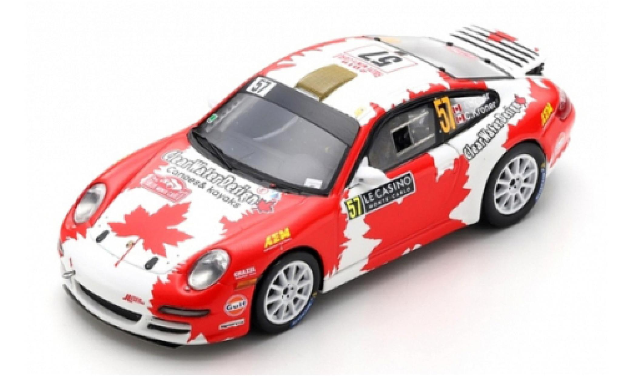 Porsche 992 1/43 Spark 911 Carrera RGT (997) No.57 ClearWater Design Racing Rally Monte Carlo 2019 I.Crerar/C.Kröner
