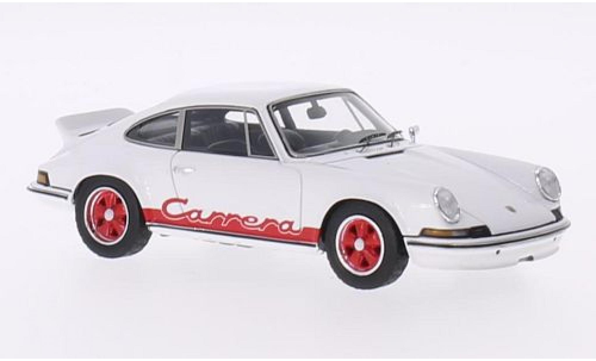 Porsche 911 1/43 Spark Carrera RS 2.7 white/red 1973 véhicule de présentation