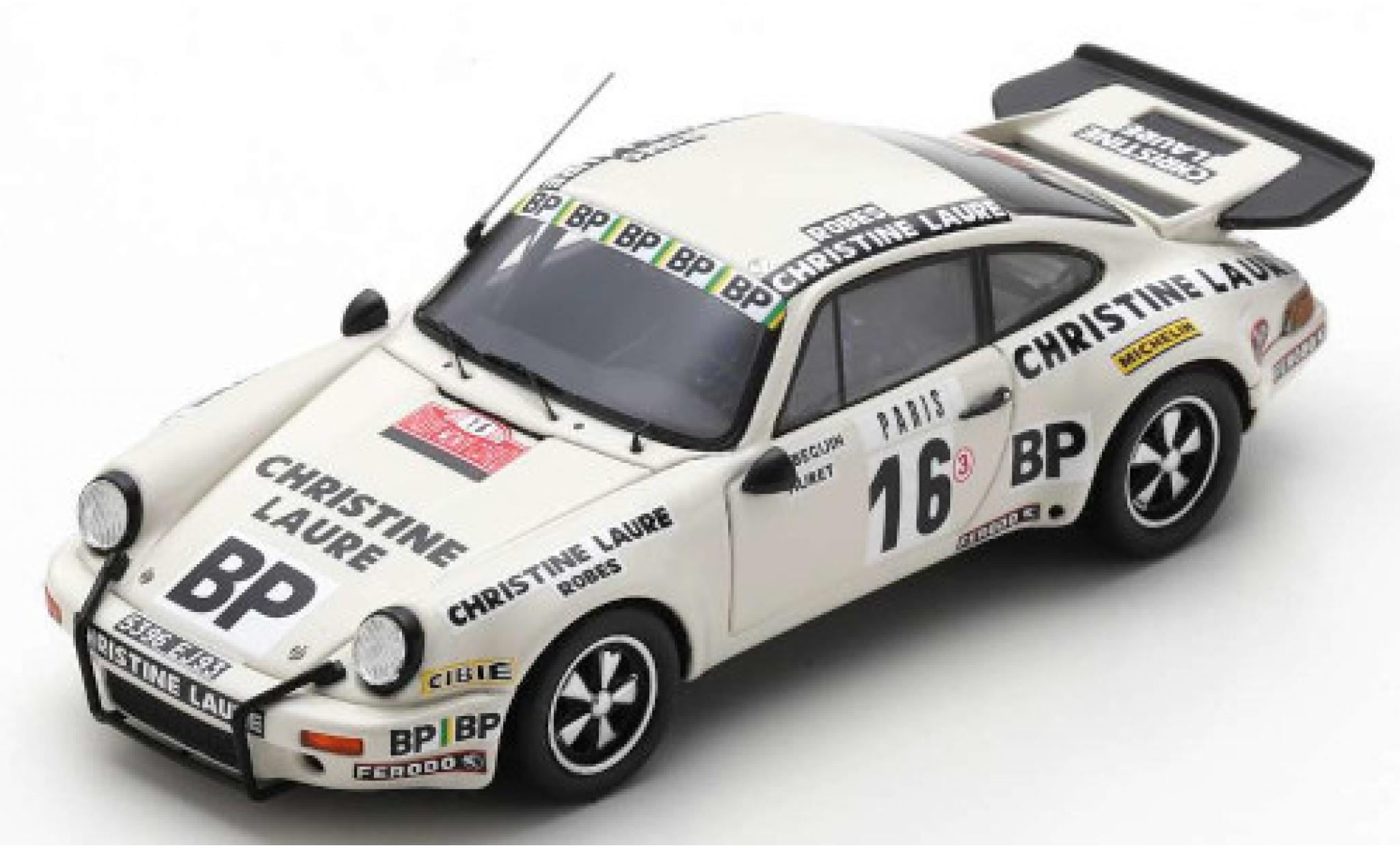 Porsche 930 RS 1/43 Spark 911 Carrera 3.0 No.16 Touroul Racing Christine Laure Rally Monte Carlo 1978 B.Beguin/W.Huret