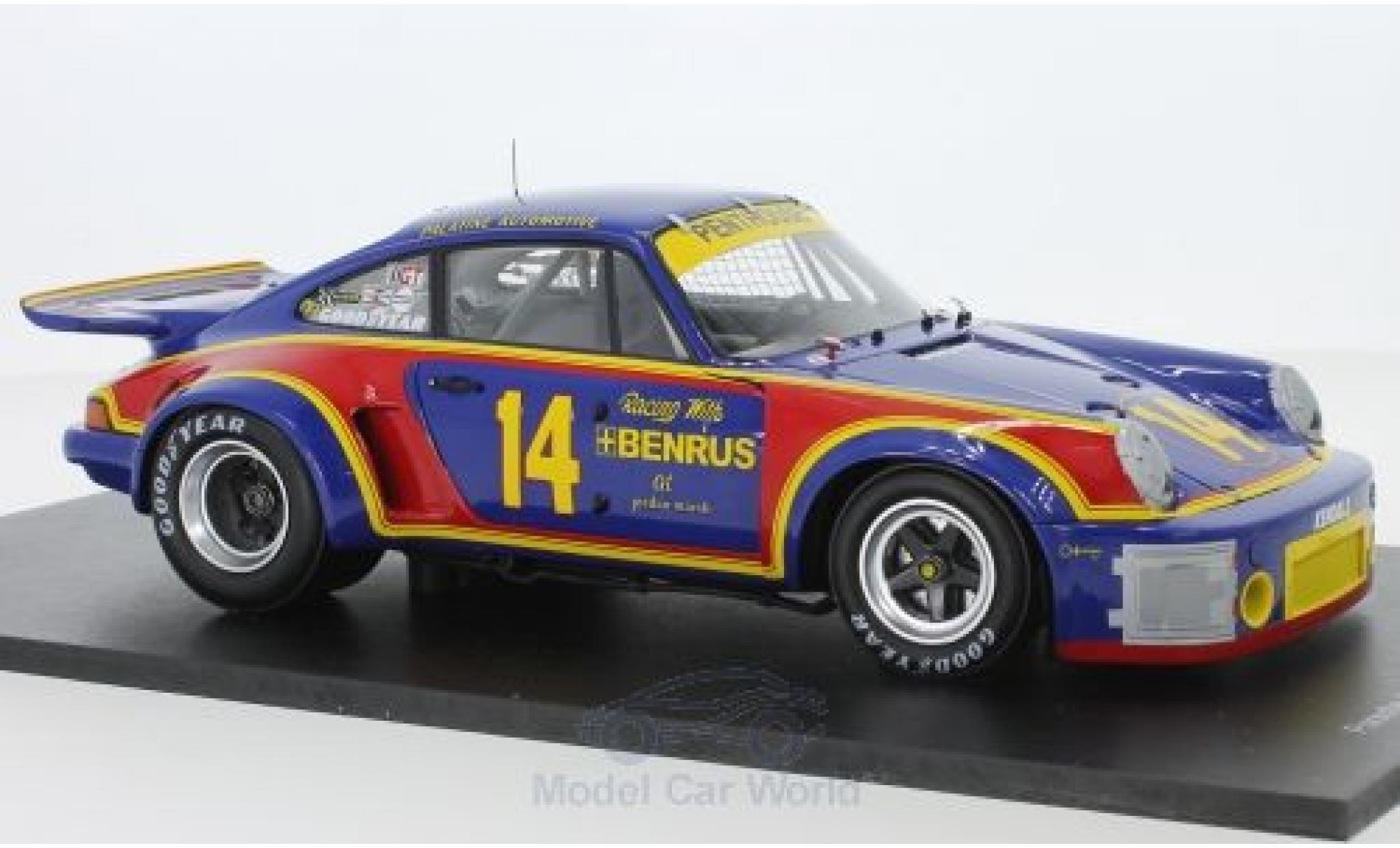 Porsche 930 RSR 1/18 Spark 911 Carrera 3.0 No.14 12h Sebring 1976 A.Holbert/M.Keyser