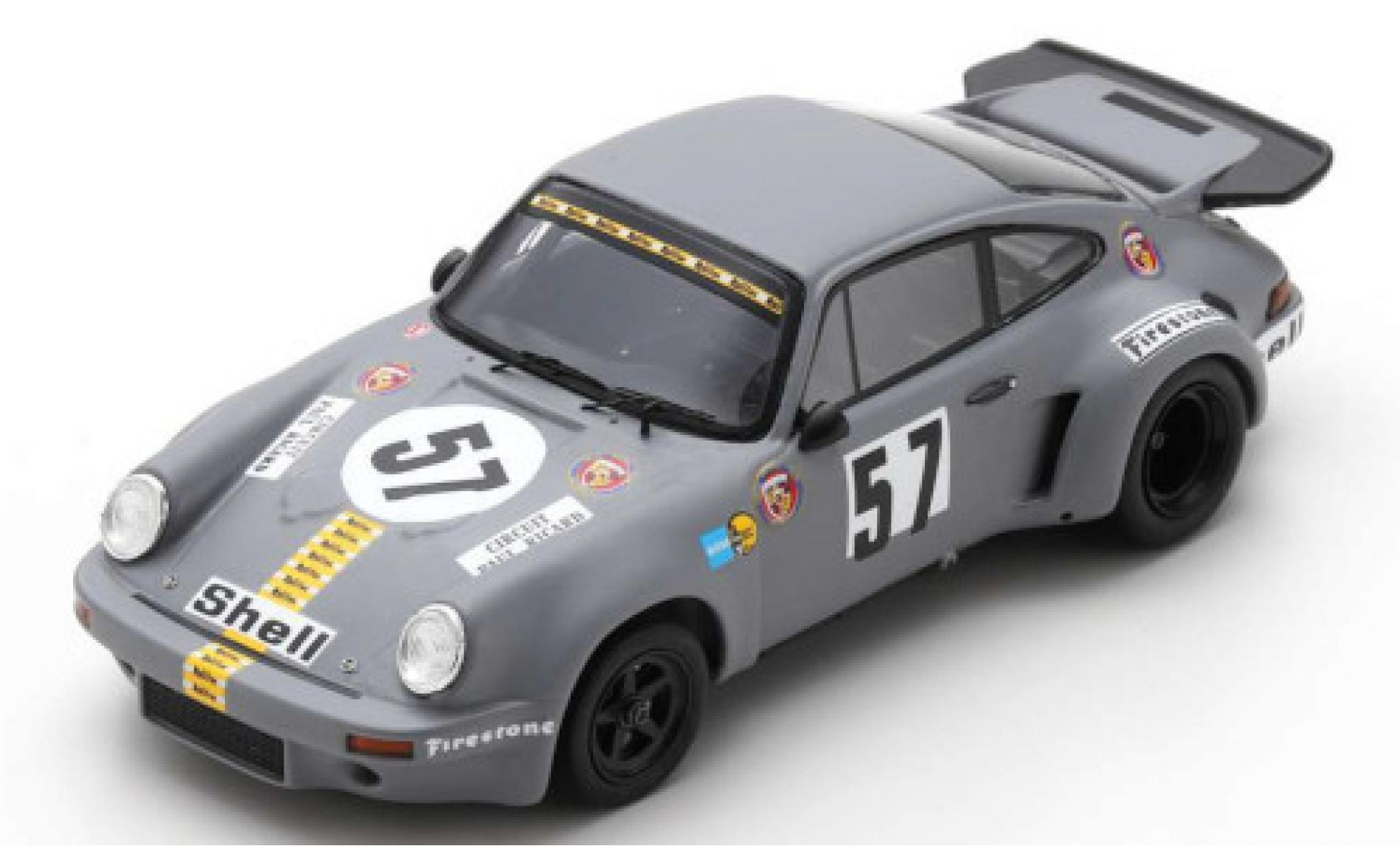 Porsche 930 RSR 1/43 Spark 911 Carrera 3.0 No.57 Gelo Racing 1000km Le Castellet 1974 T.Schenken/R.Stommelen