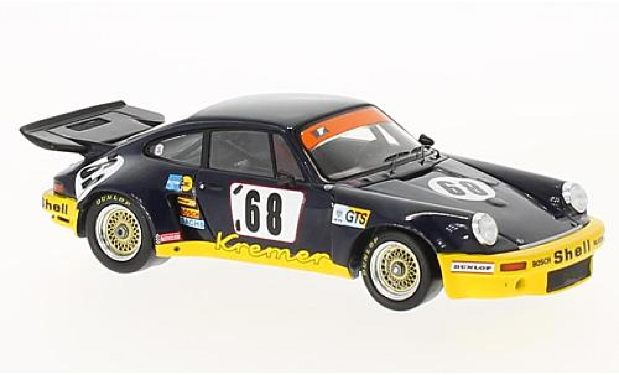Porsche 930 RSR 1/43 Spark 911 Carrera No.68 Kremer Samson 24h Le Mans 1974 avec Decals H.Heyer/E.Kremer/P.Keller