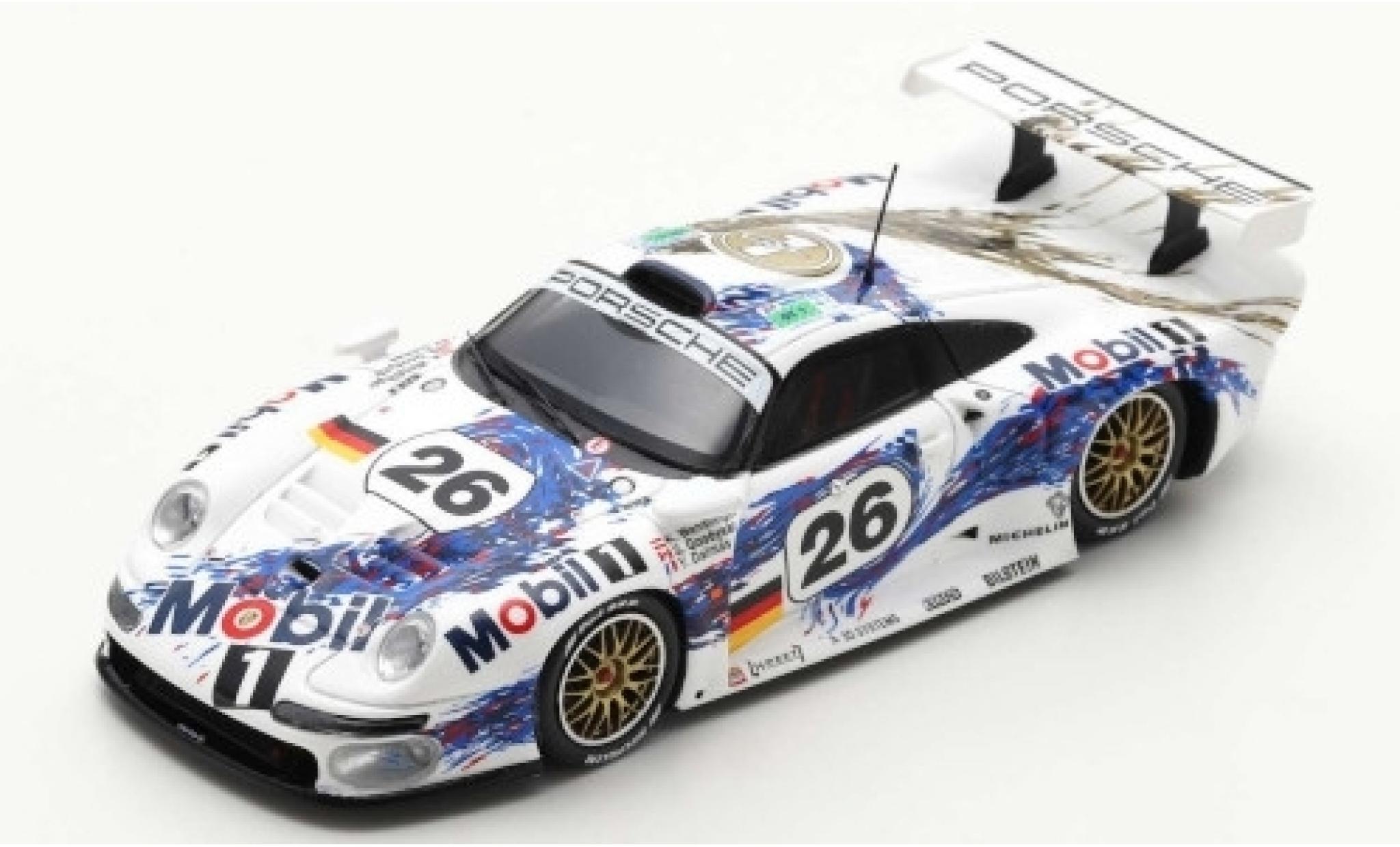 Porsche 993 1/43 Spark 911 GT1 No.26 AG Mobil 1 24h Le Mans 1996 Y.Dalmas/K.Wendlinger/S.Goodyear