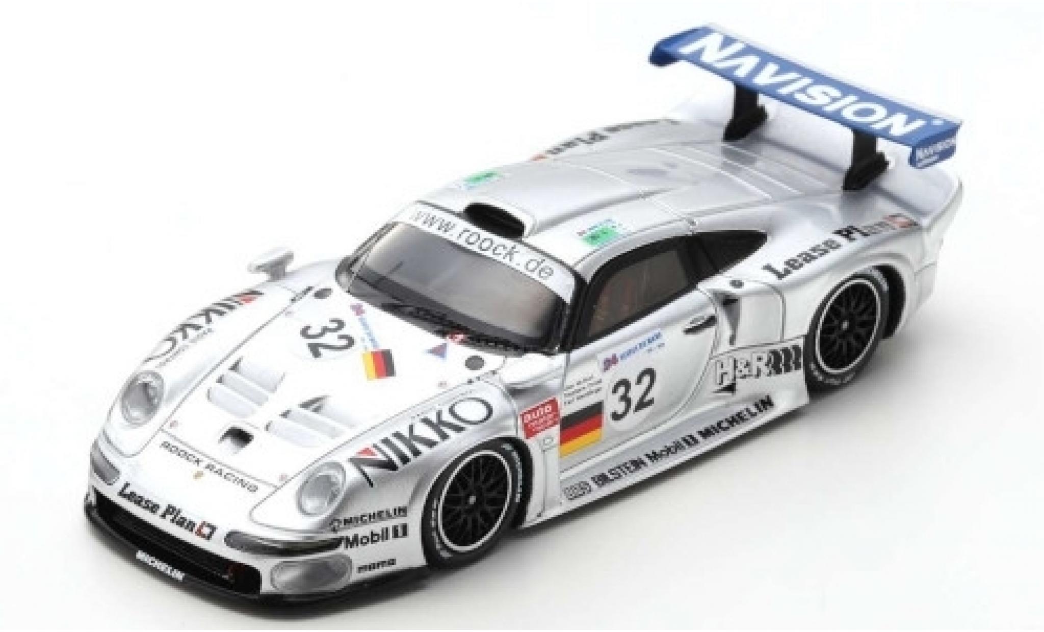 Porsche 996 GT1 1/43 Spark 911 No.32 Roock Racing 24h Le Mans 1997 A.McNish/S.Ortelli/K.Wendlinger