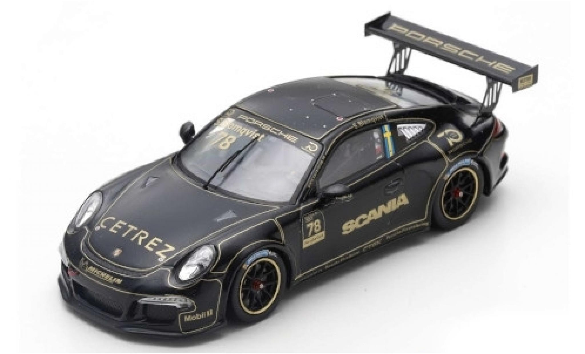 Porsche 991 GT3 Cup 1/43 Spark 911 ( II) No.78 Carrera Cup Scandinavia Anderstorp 2018 Tribute to Ronnie Peterson S.Blomqvist