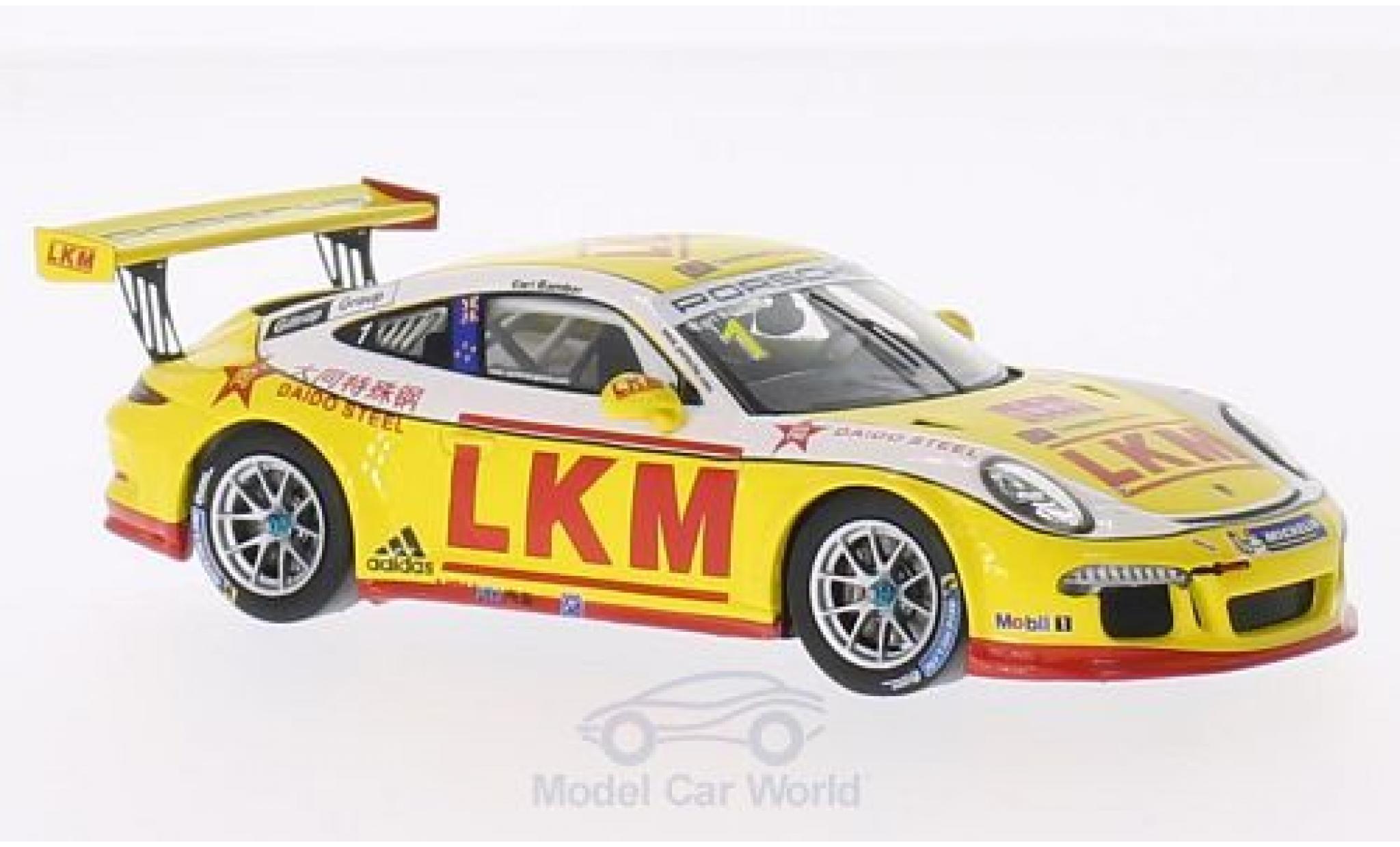 Porsche 991 GT3 Cup 1/43 Spark 911 No.1 LKM PCCA 2014 E.Bamber