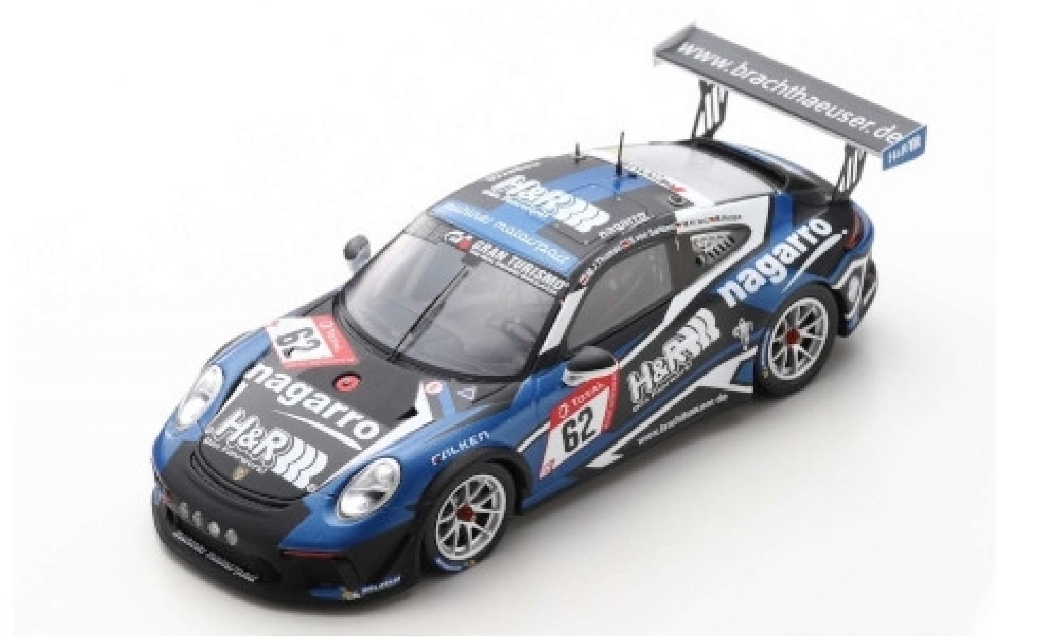 Porsche 992 GT3 1/43 Spark 911 Cup No.62 Mühlner Motorsport H&R 24h Nürburgring 2019 M.J.Thomas/S.von Gartzen/M.Kranz/M.Hoppe