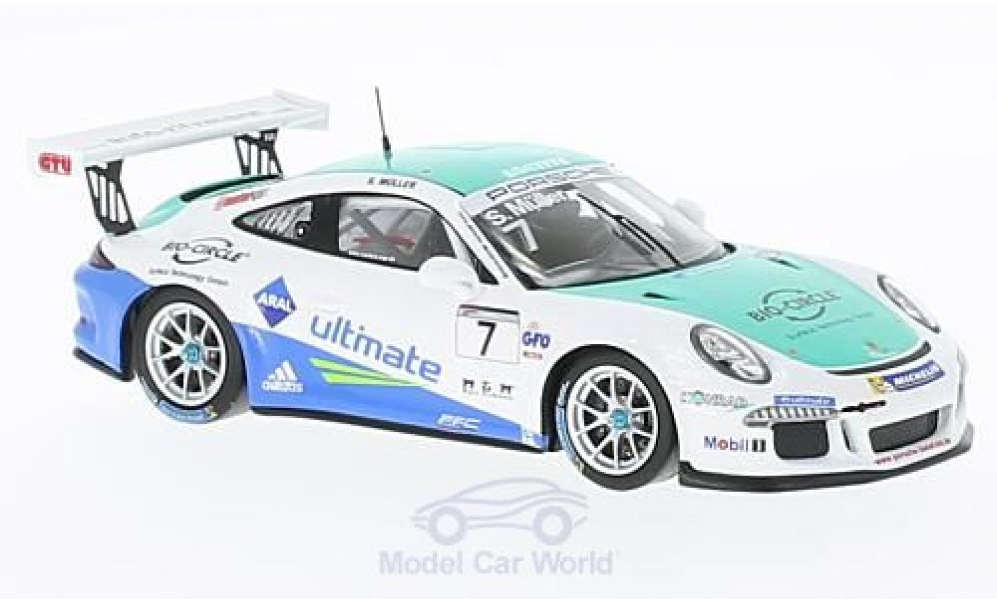 Porsche 991 GT3 Cup 1/43 Spark 911 No.7 Carrera Cup Deutschland 2016 S.Müller