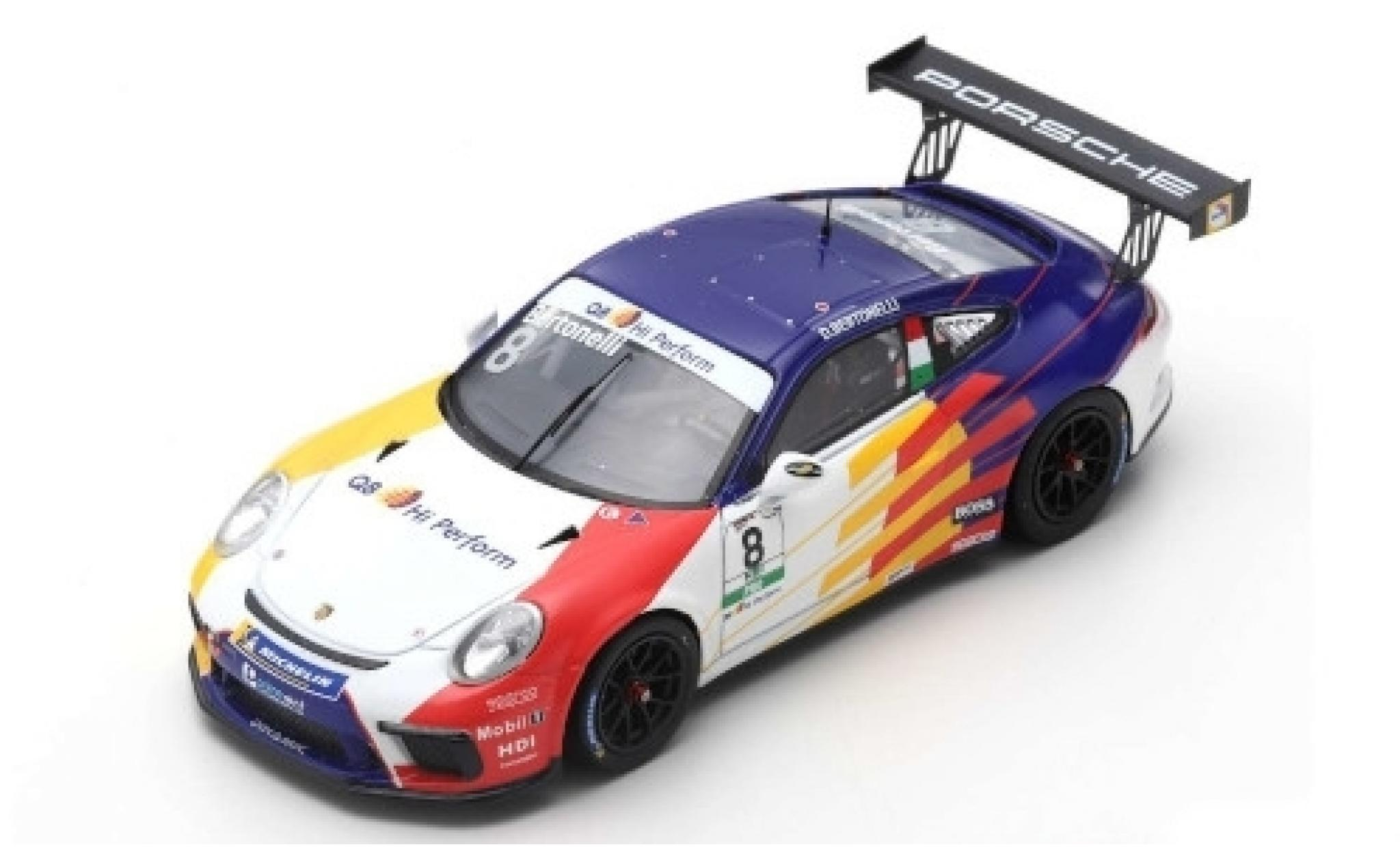 Porsche 992 GT3 1/43 Spark 911 Cup No.8 Dinamic Motorsport Carrera Cup Italia Monza 2019 D.Bertonelli