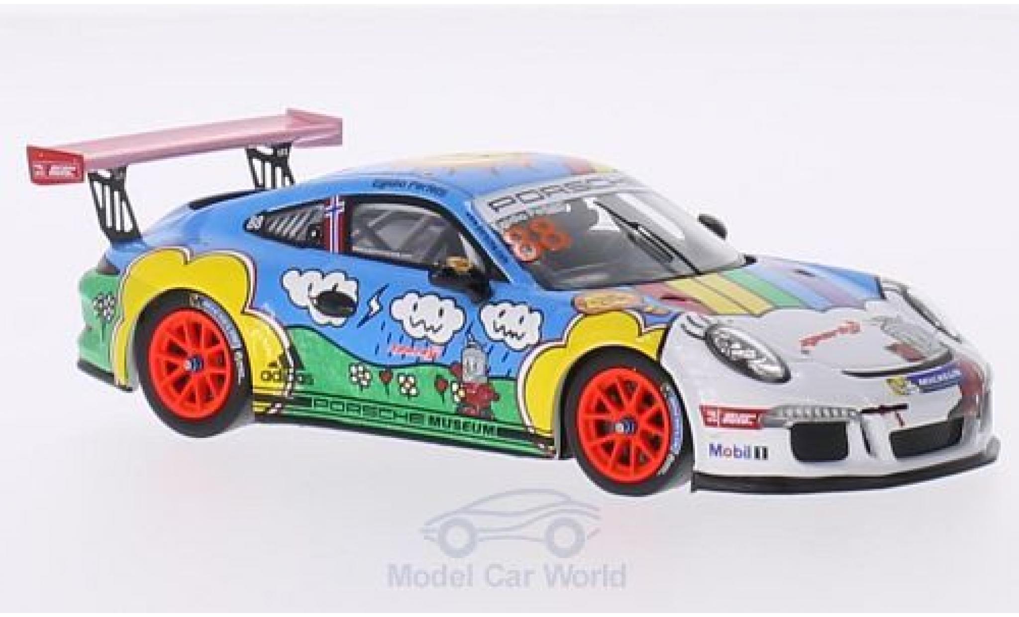 Porsche 991 GT3 Cup 1/43 Spark 911 No.88 Sparky Carrera Cup Asia Singapur 2015 E.Perfetti