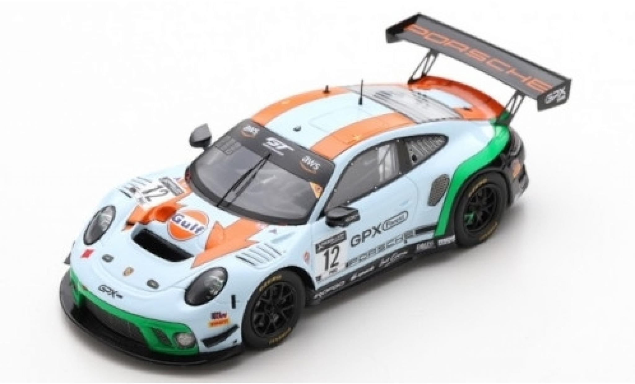 Porsche 992 GT3 R 1/43 Spark 911 (991.2) No.12 GPX Racing Gulf 2019 The Diamond