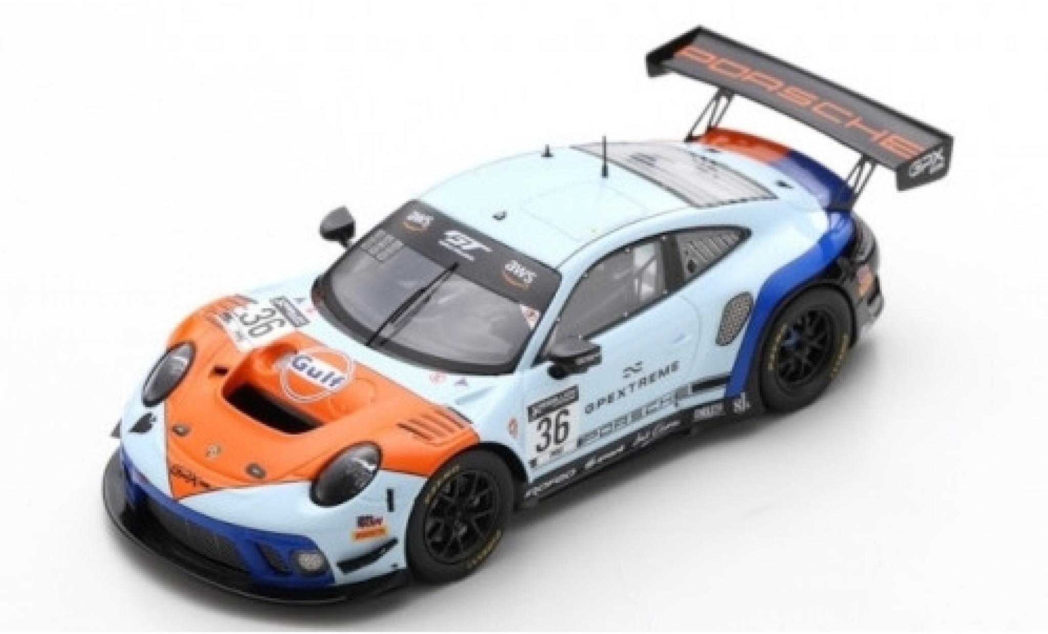 Porsche 992 GT3 R 1/43 Spark 911 (991.2) No.36 GPX Racing Gulf 2019 The Spade