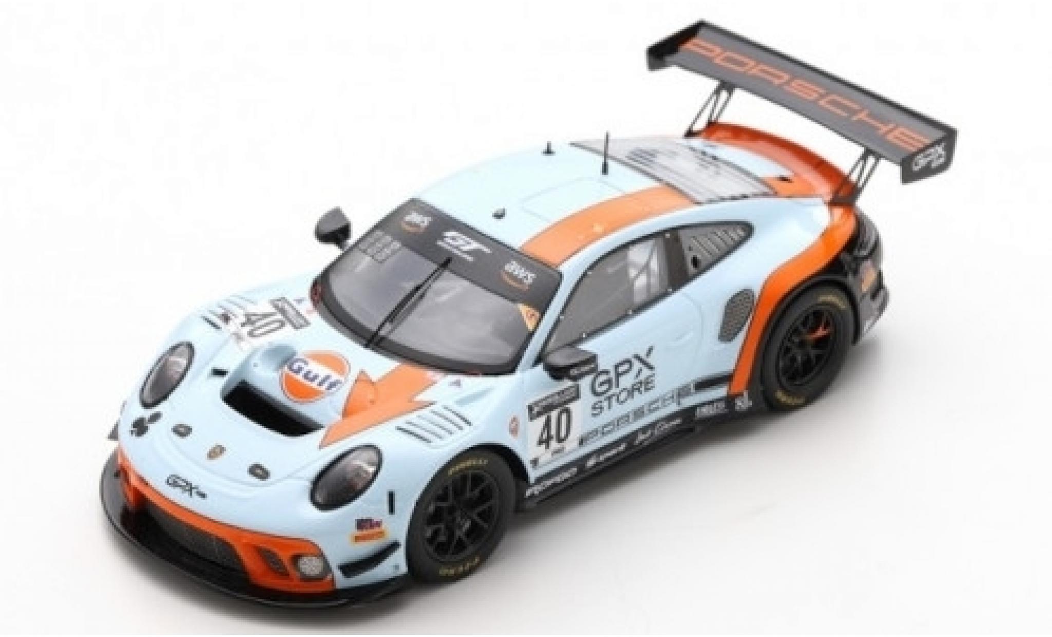 Porsche 992 GT3 R 1/43 Spark 911 (991.2) No.40 GPX Racing Gulf 2019 The Club