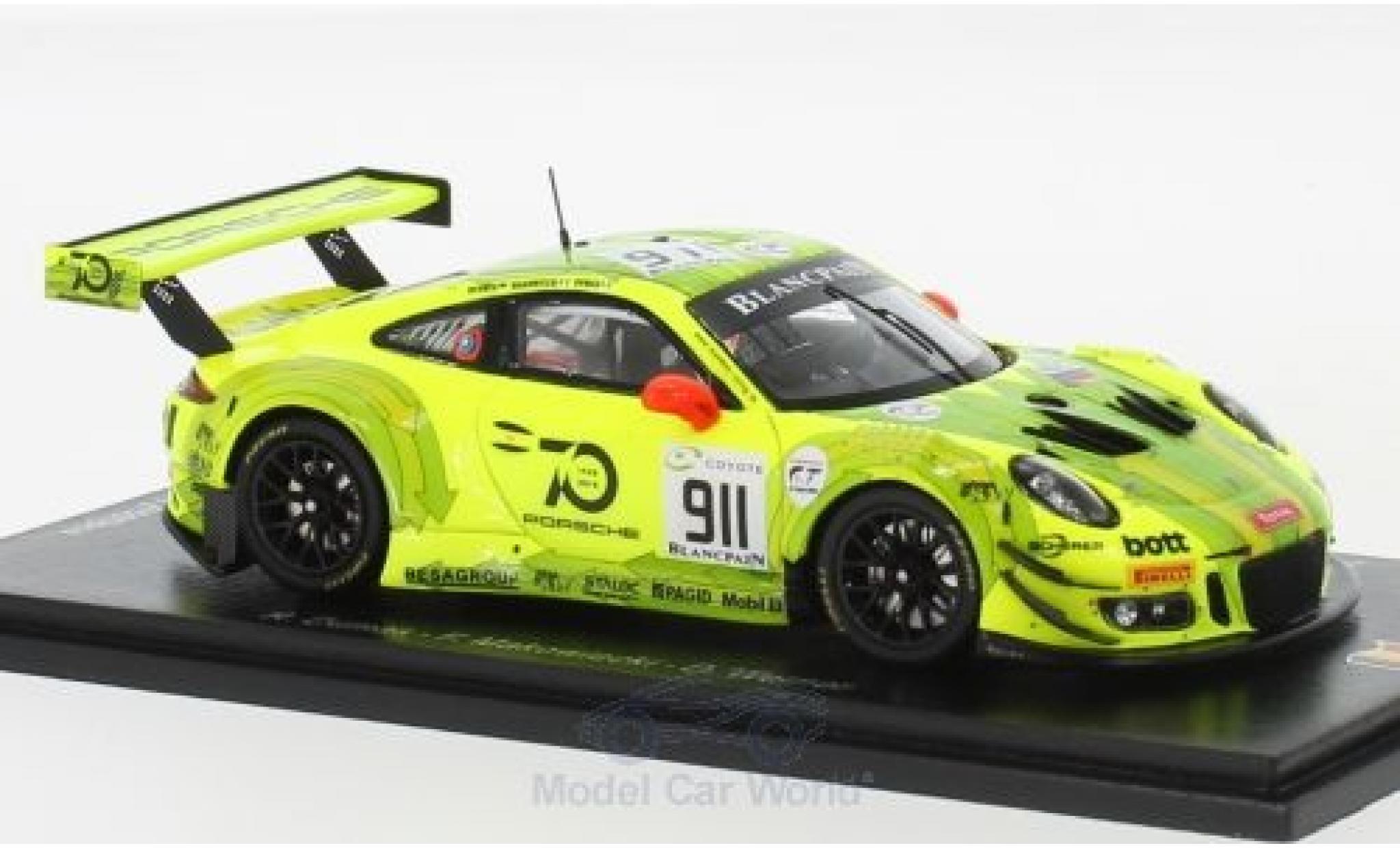 Porsche 991 GT3 R 1/43 Spark 911  No.911 Manthey Racing 24h Spa 2018 F.Makowiecki/R.Dumas/D.Werner