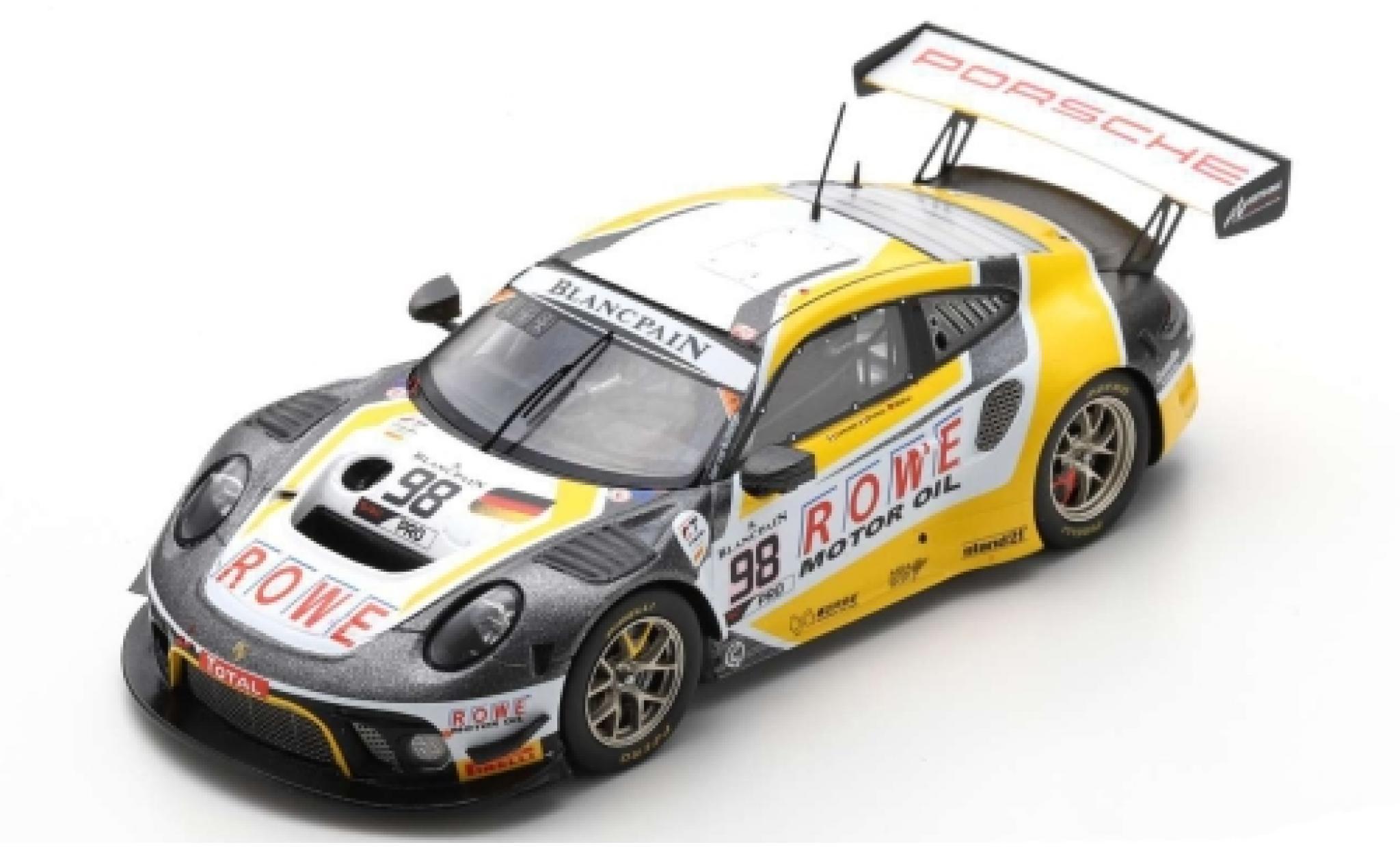 Porsche 992 GT3 R 1/43 Spark 911 (991) No.98 ROWE Racing 24h Spa 2019 S.Müller/R.Dumas/M.Jaminet