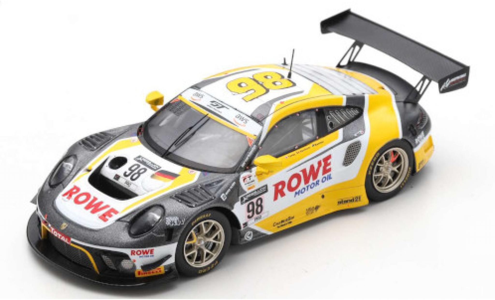 Porsche 992 GT3 R 1/43 Spark 911 (991) No.98 Rowe Racing 24h Spa 2020 L.Vanthoor/N.Tandy/E.Bamber
