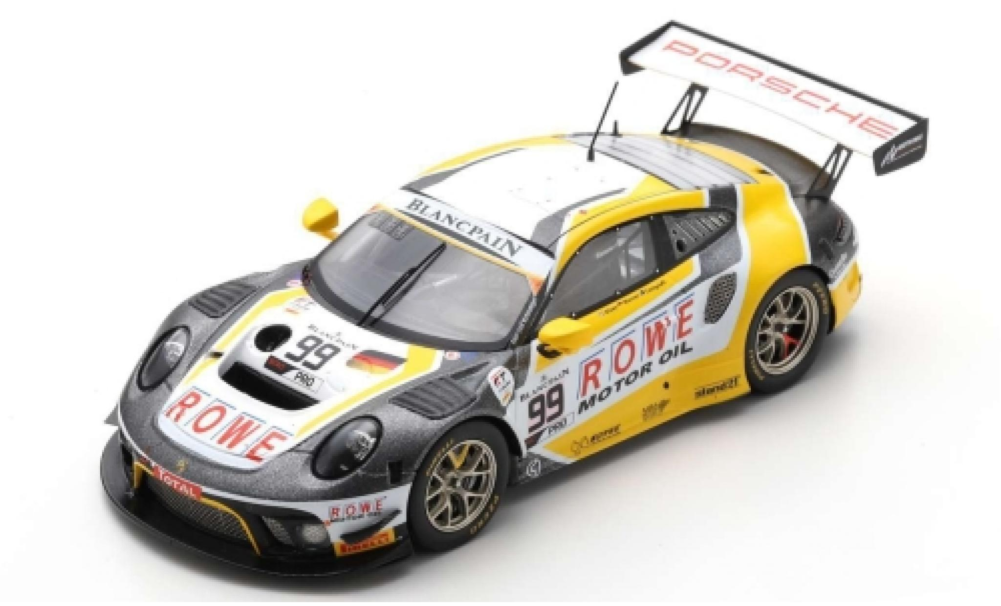 Porsche 992 GT3 R 1/43 Spark 911 (991) No.99 ROWE Racing 24h Spa 2019 D.Olsen/M.Campbell/D.Werner